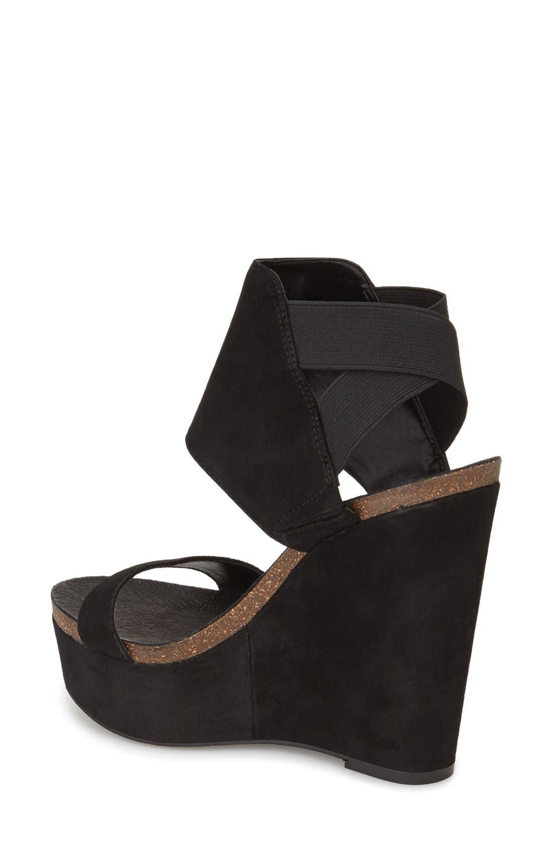 Kresta Platform Wedge Sandal,                             Alternate thumbnail 2, color,                             001
