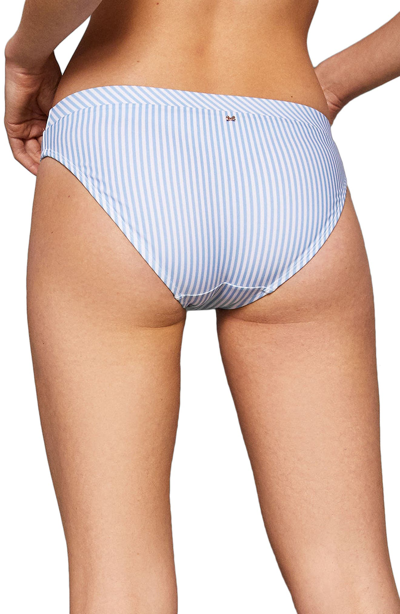 Stripe Bikini Bottoms,                             Alternate thumbnail 2, color,                             PALE BLUE