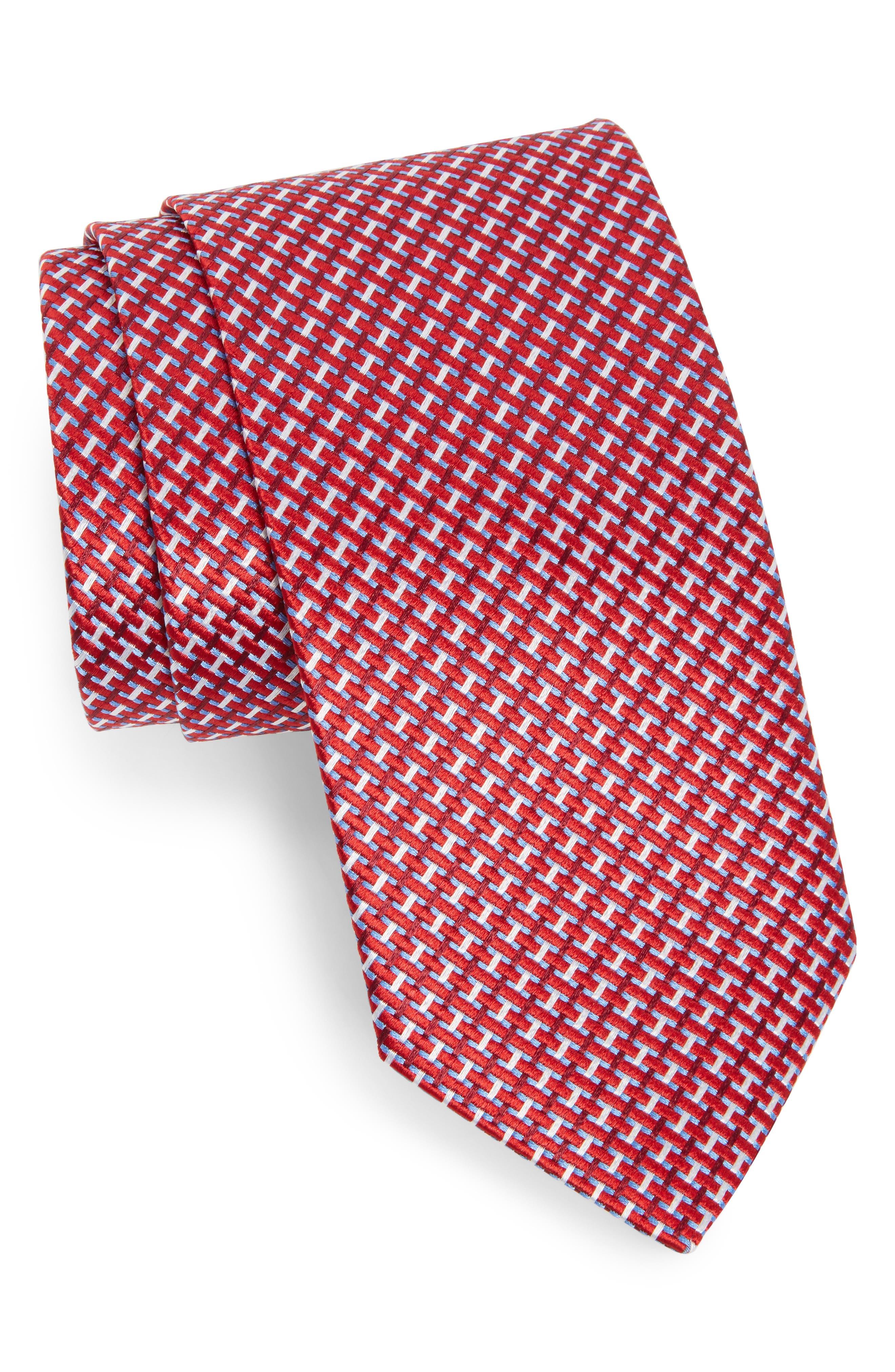 Geometric Silk Tie,                             Main thumbnail 3, color,