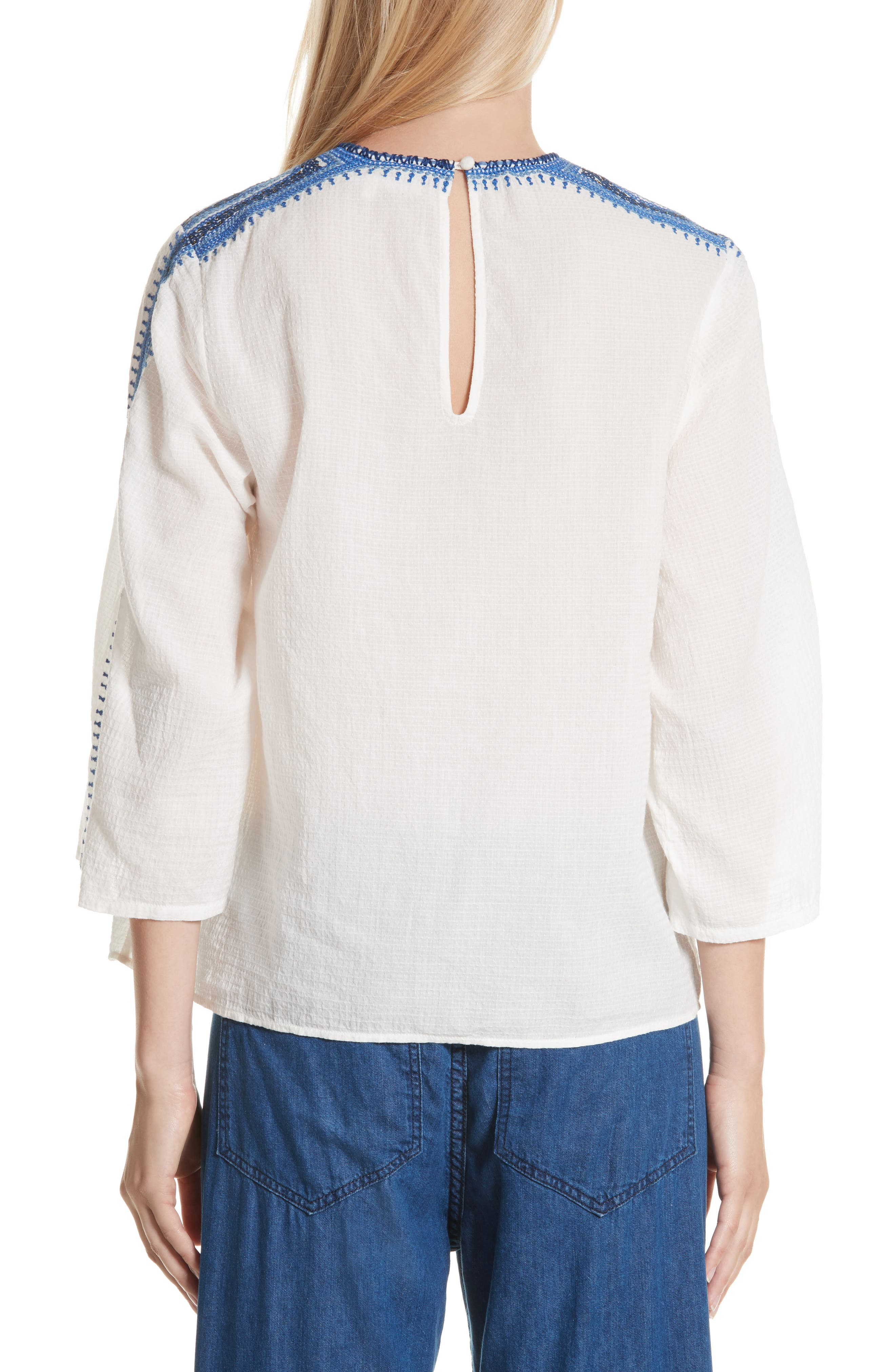 The Oasis Embroidered Top,                             Alternate thumbnail 2, color,
