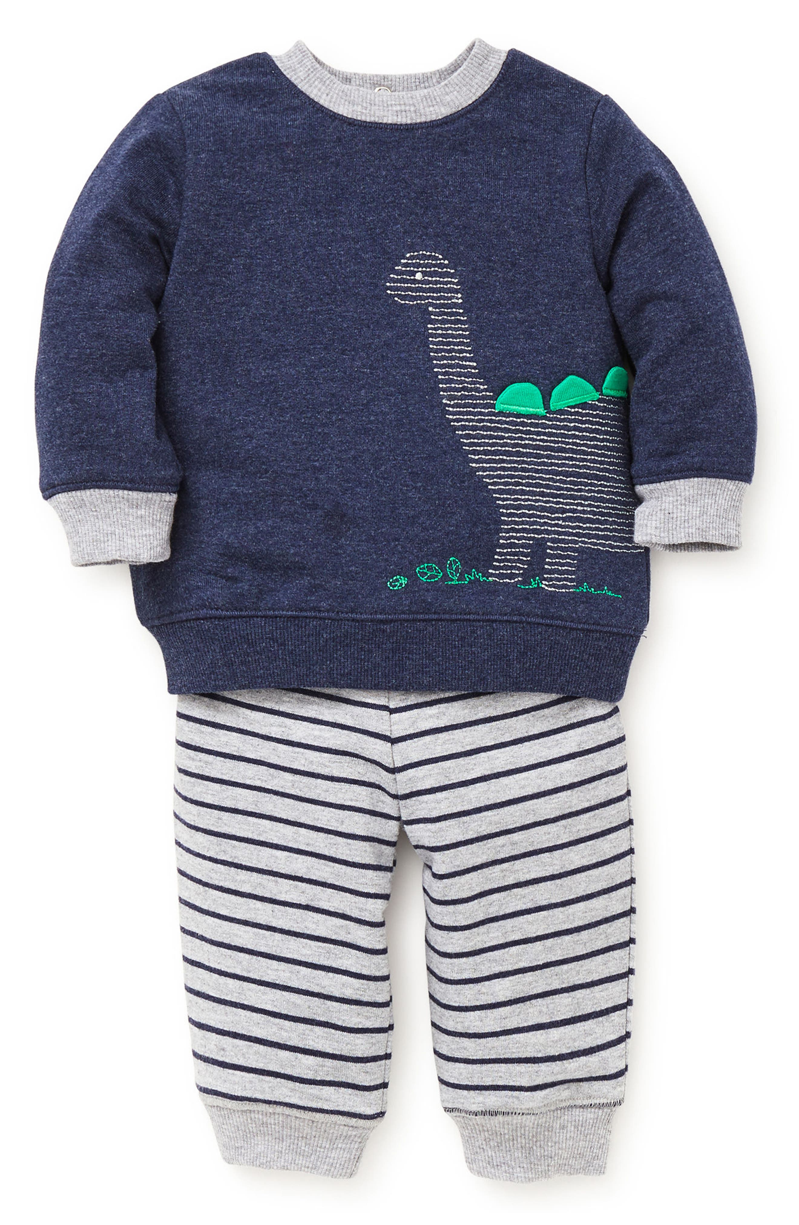Dino Sweatshirt & Sweatpants Set,                         Main,                         color, 472