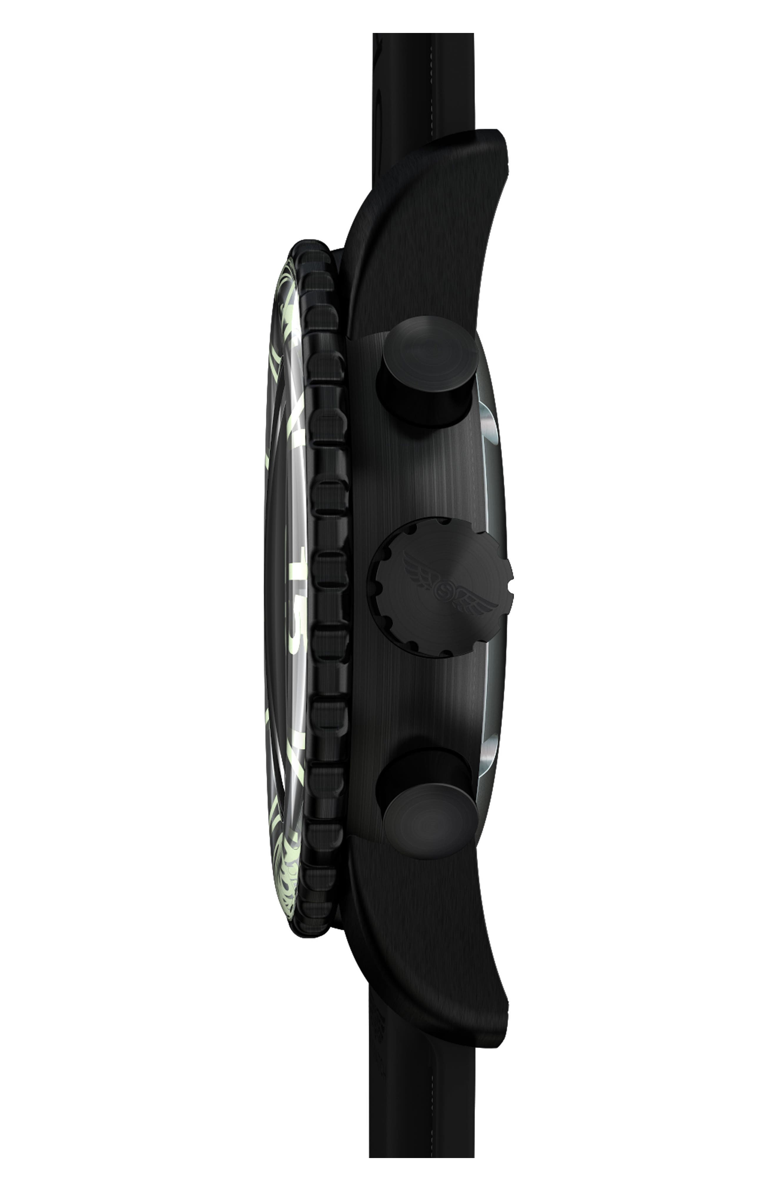 Classic Chronograph Silicone Strap Watch, 44mm,                             Alternate thumbnail 3, color,                             001