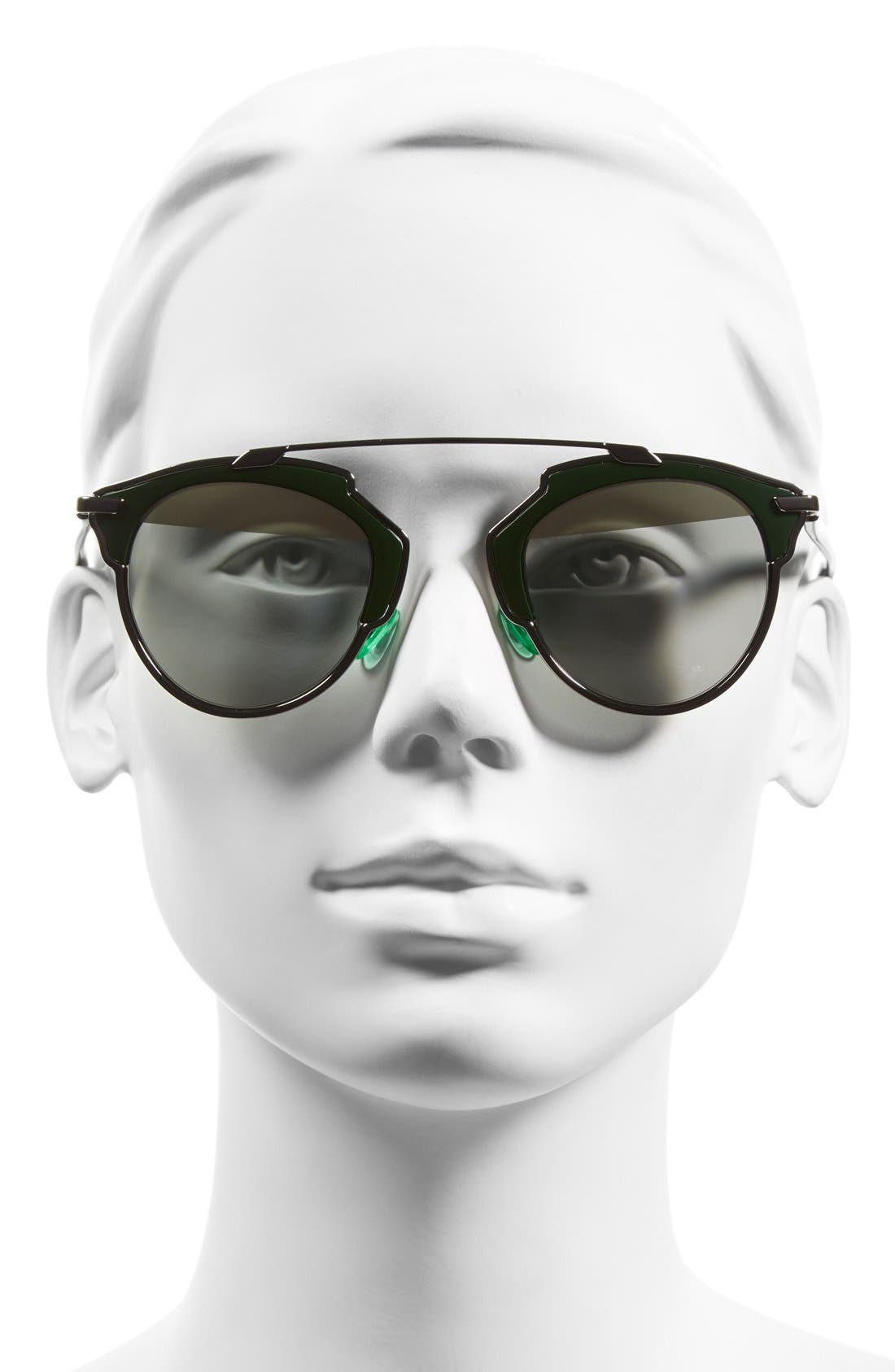 DIOR,                             So Real 48mm Brow Bar Sunglasses,                             Alternate thumbnail 2, color,                             045