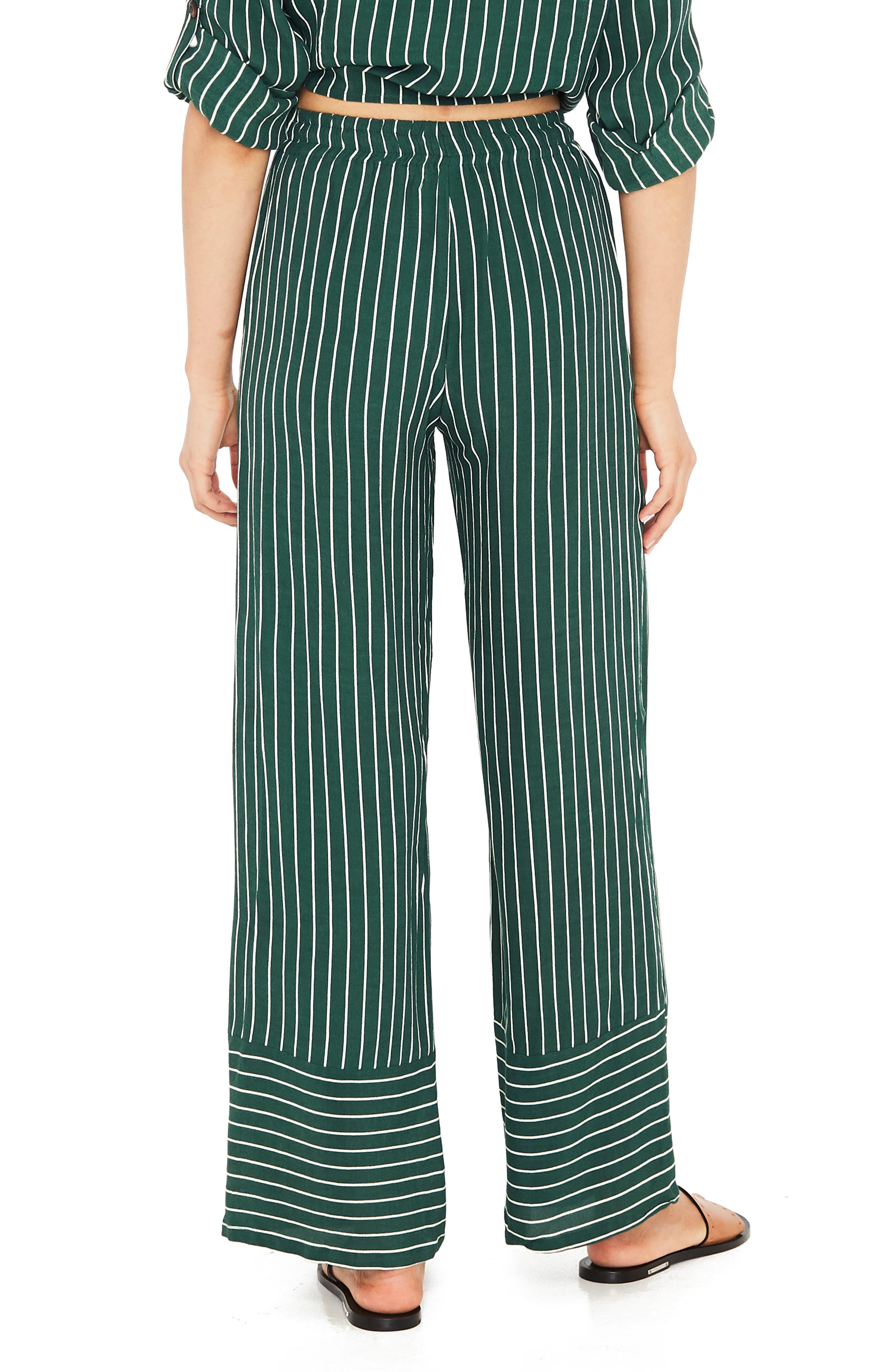 Havana High Waist Stripe Pants,                             Alternate thumbnail 2, color,                             PASEO STRIPE