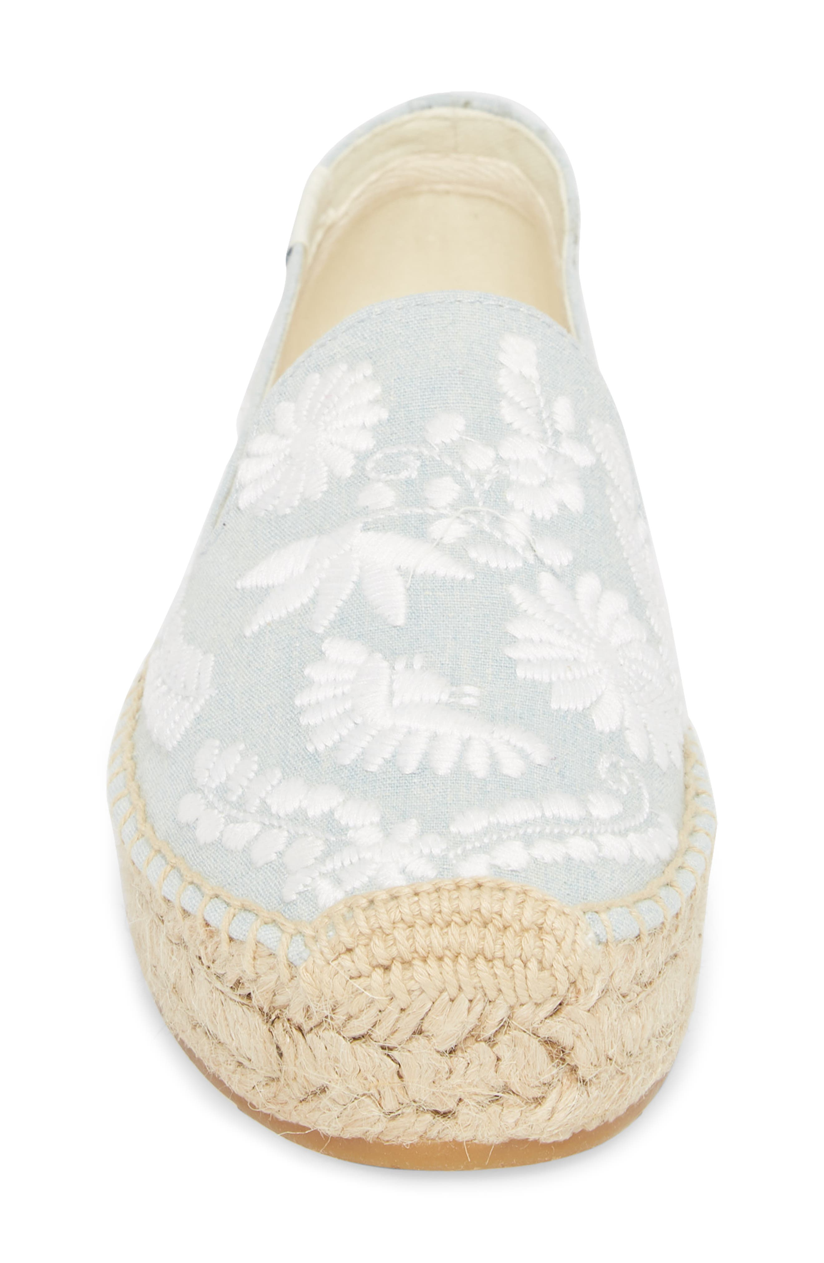 Ibiza Embroidered Loafer Espadrille,                             Alternate thumbnail 4, color,                             CHAMBRAY
