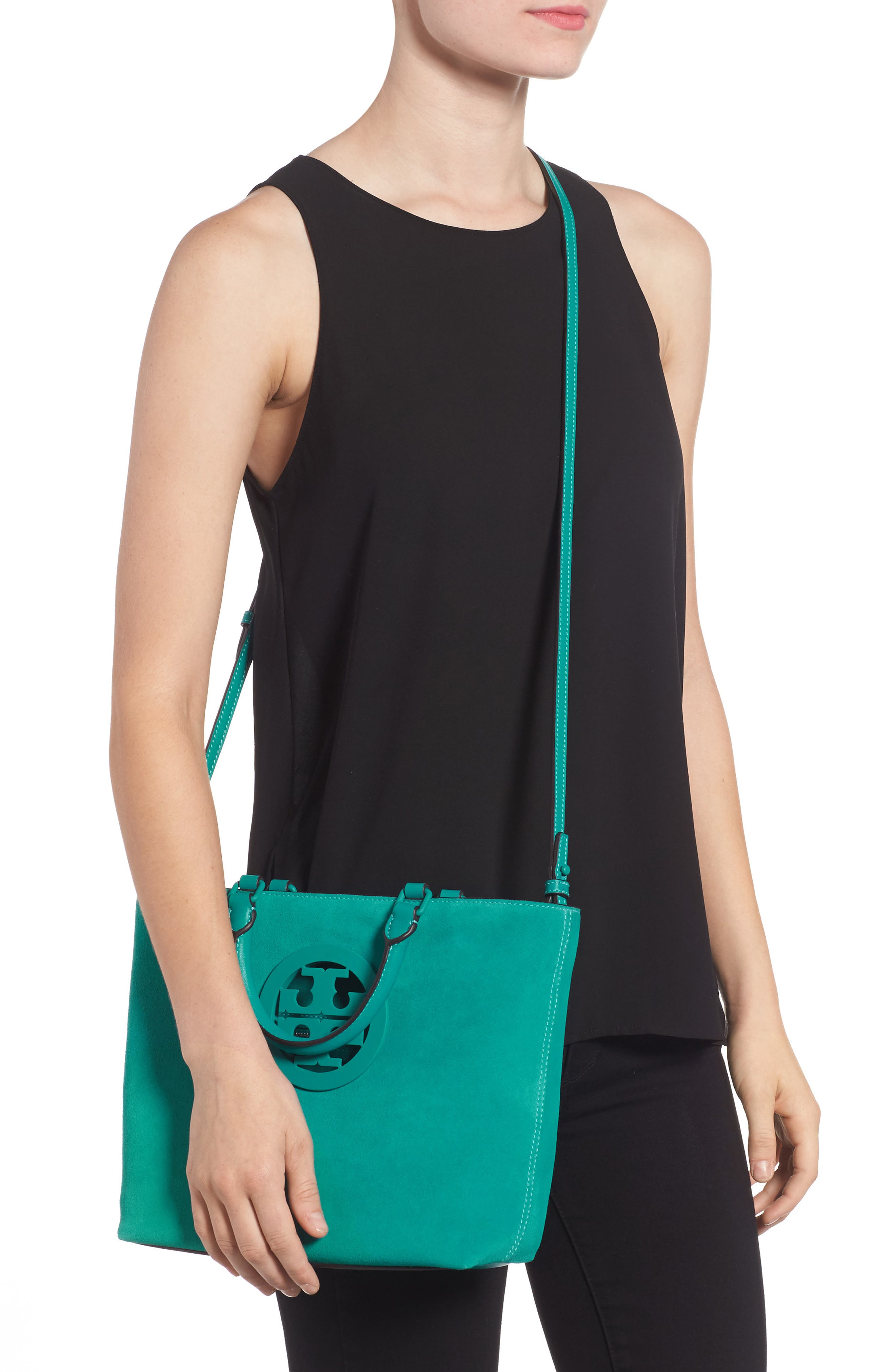 Small Charlie Suede Tote,                             Alternate thumbnail 2, color,                             336