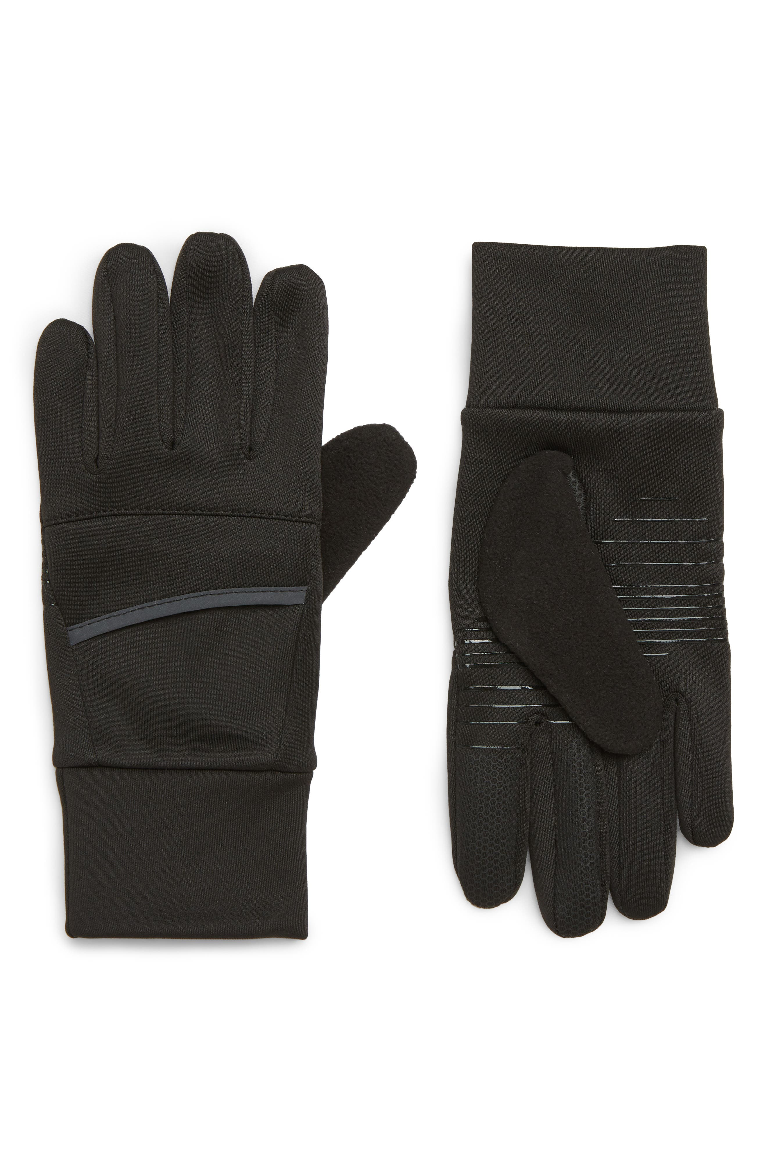 Tech Running Gloves,                             Main thumbnail 1, color,                             001