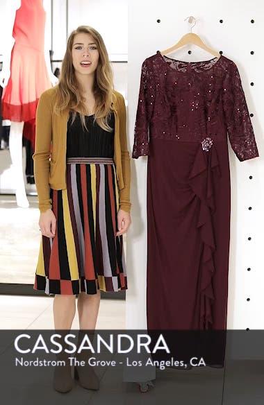 Ruffle Detail Column Gown, sales video thumbnail