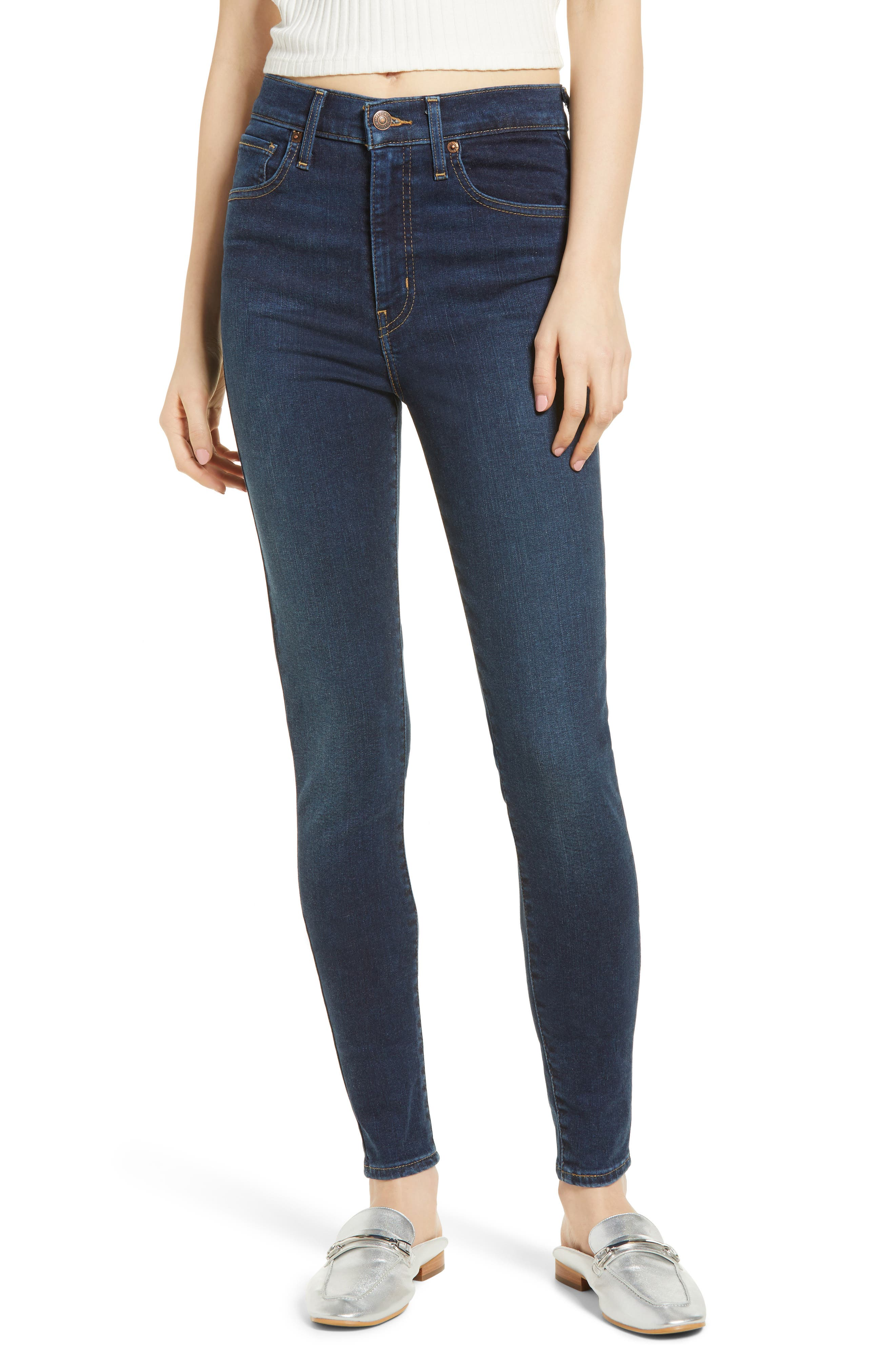 Mile High Super Skinny Jeans,                             Main thumbnail 1, color,                             JET SETTER