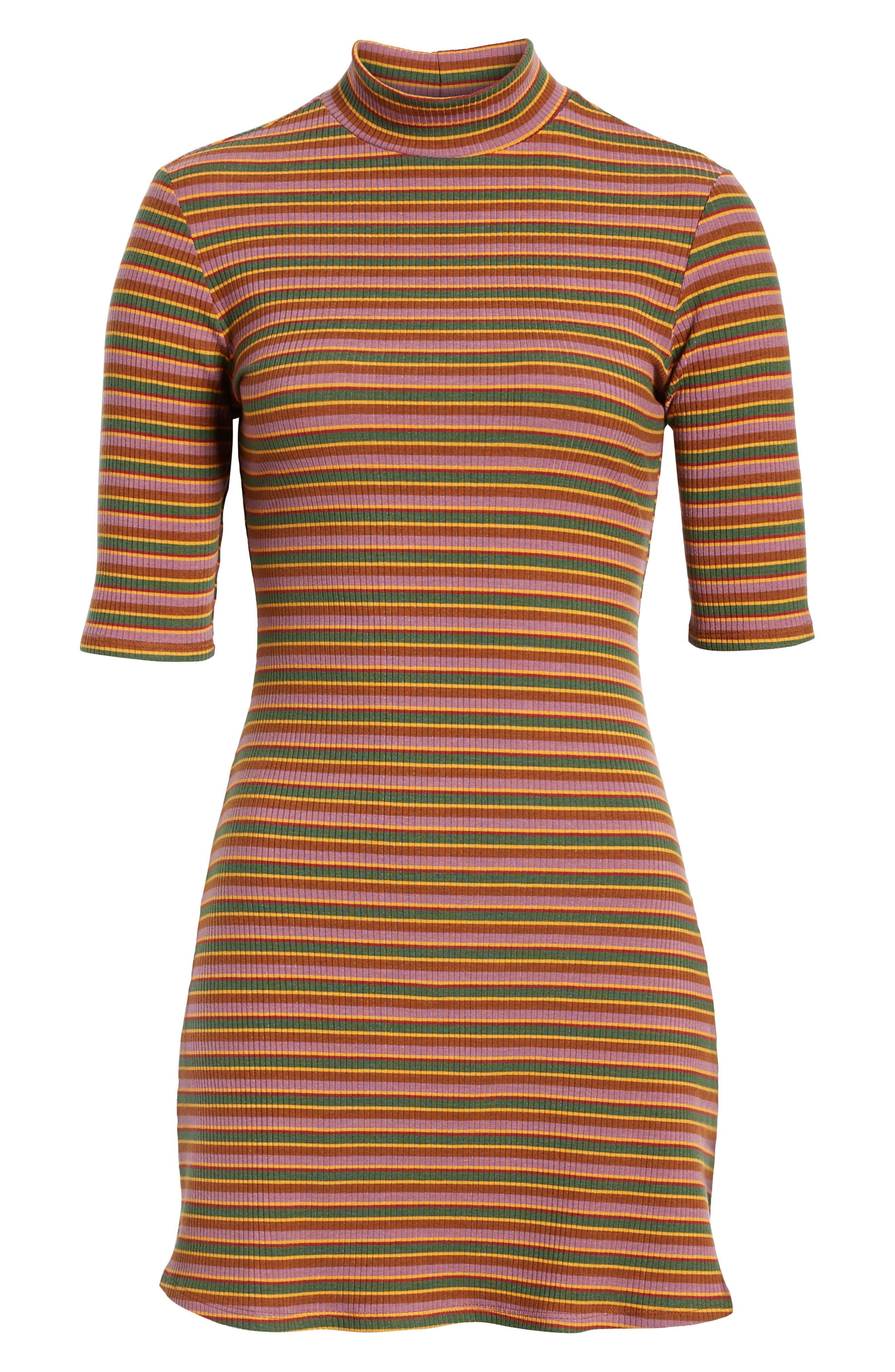 Mod Sweater Dress,                             Alternate thumbnail 4, color,                             GABRIEL STRIPE