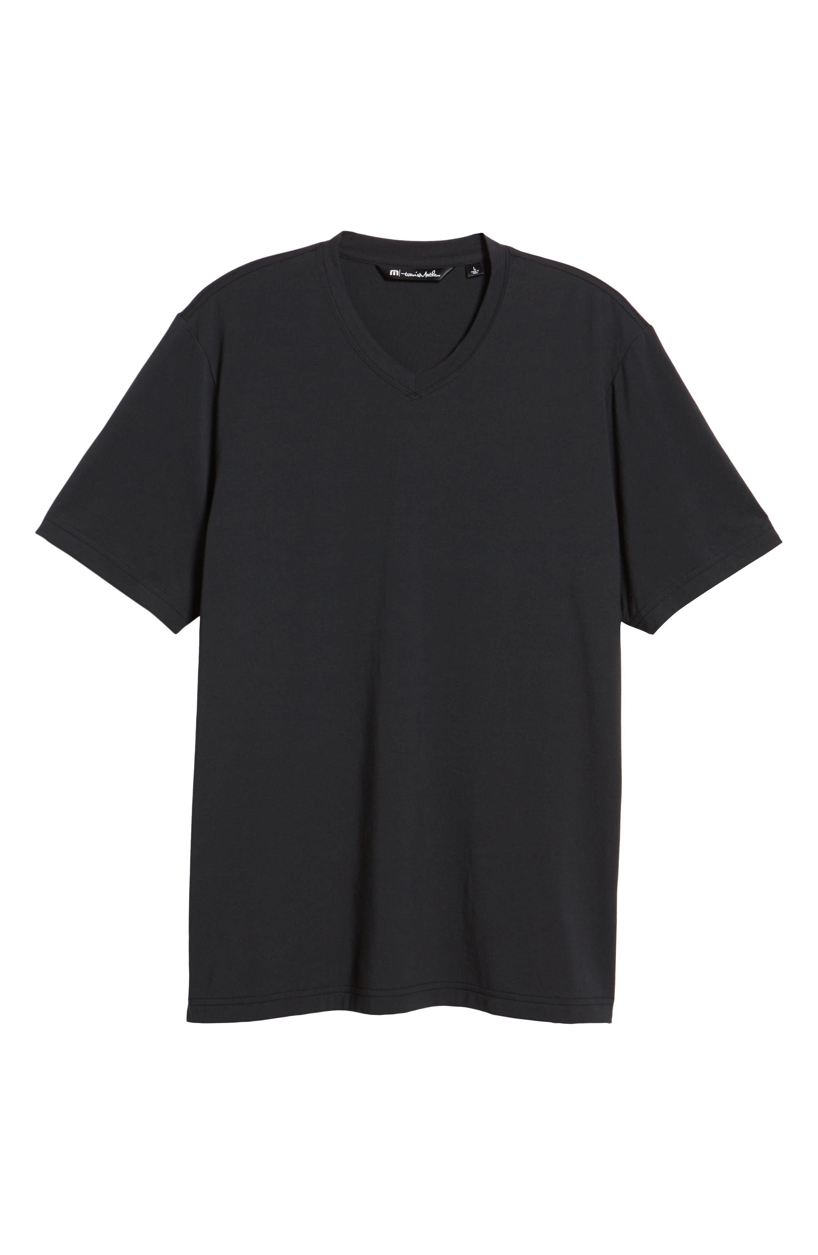 Potholder V-Neck T-Shirt,                             Alternate thumbnail 6, color,                             BLACK