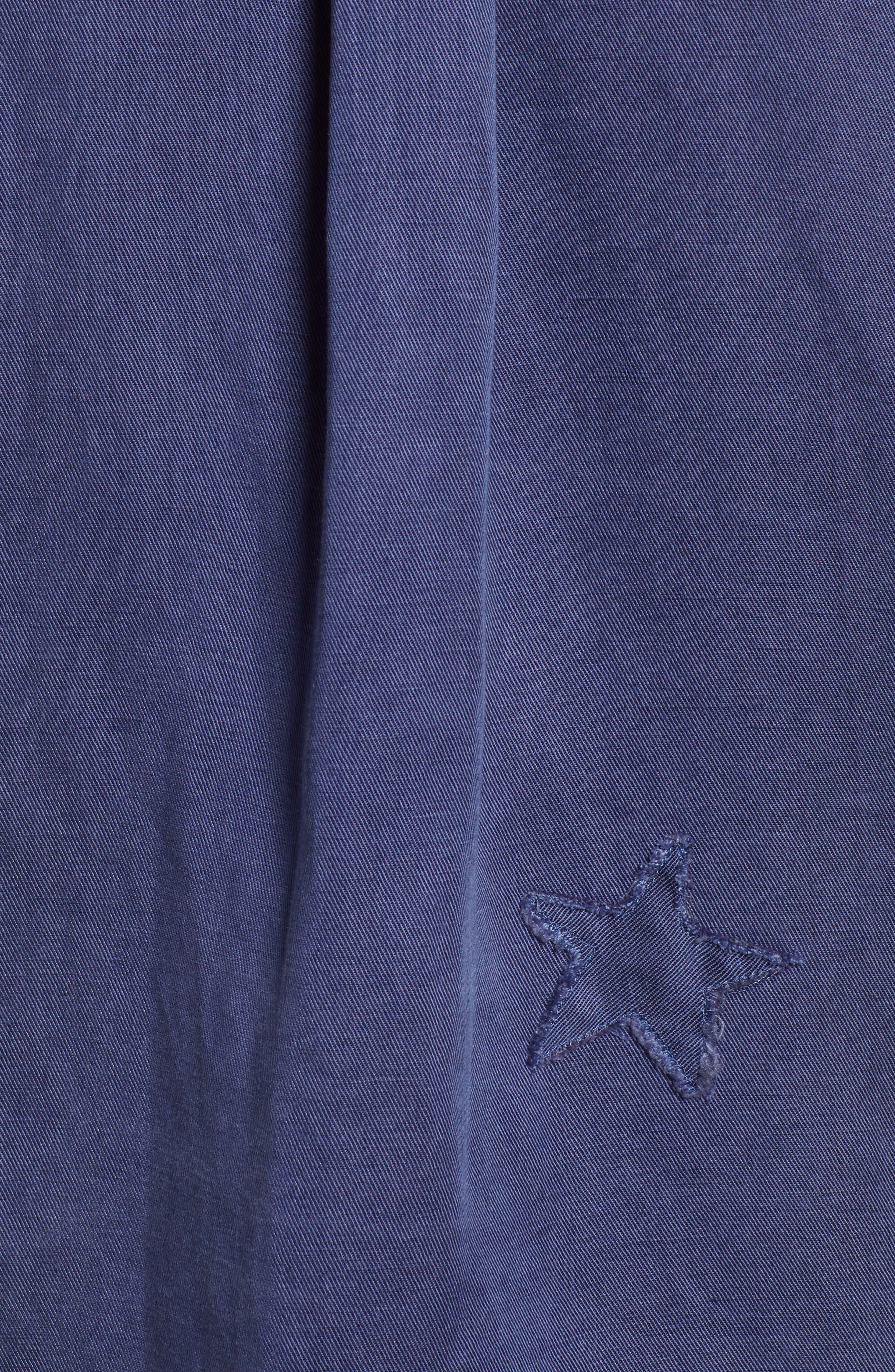 Kato Military Shirt,                             Alternate thumbnail 5, color,                             TOKYO BLUE