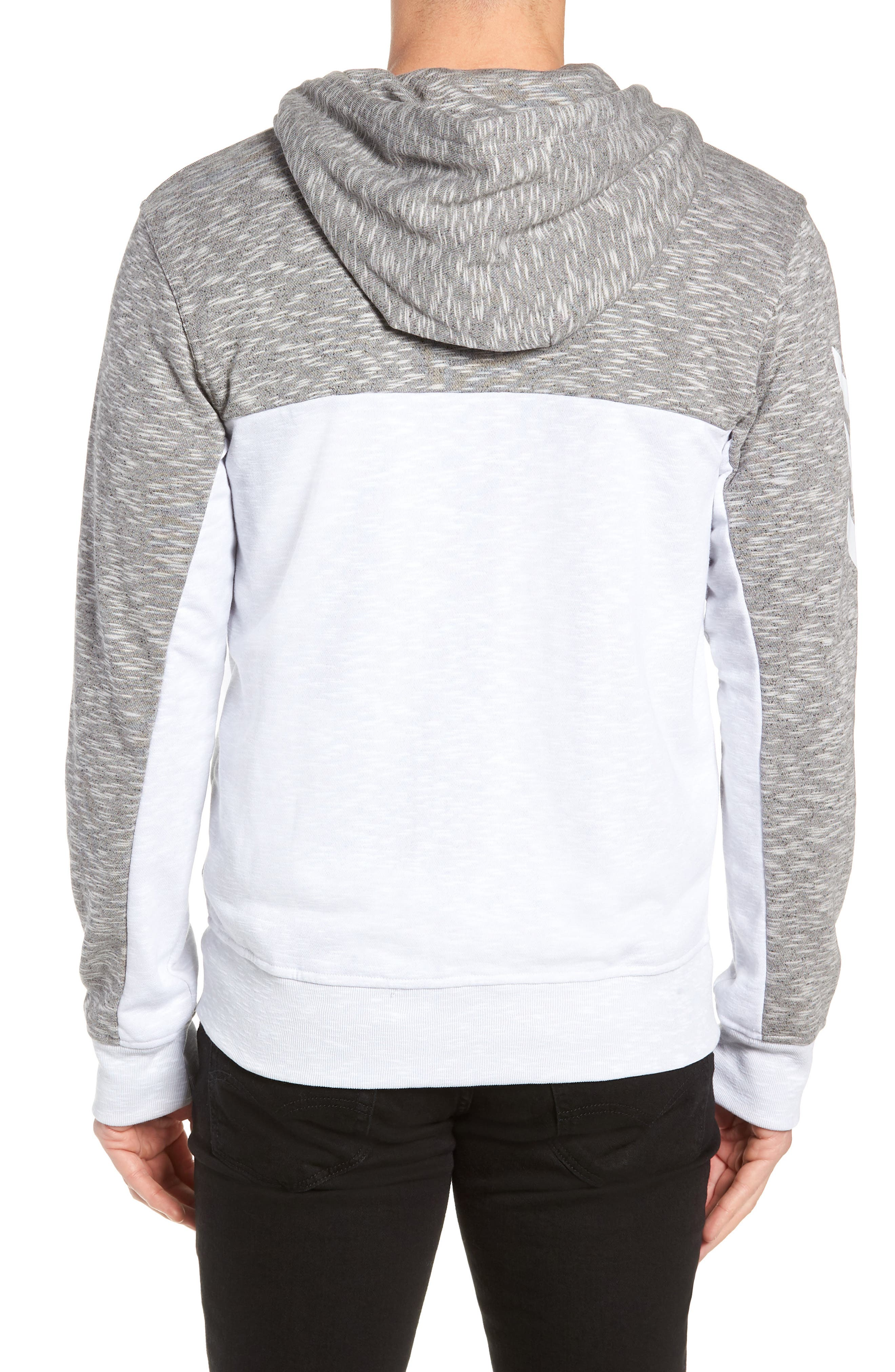 Pick Up Colorblock Zip Hoodie,                             Alternate thumbnail 2, color,                             LGH SOLID GREY/ WHITE