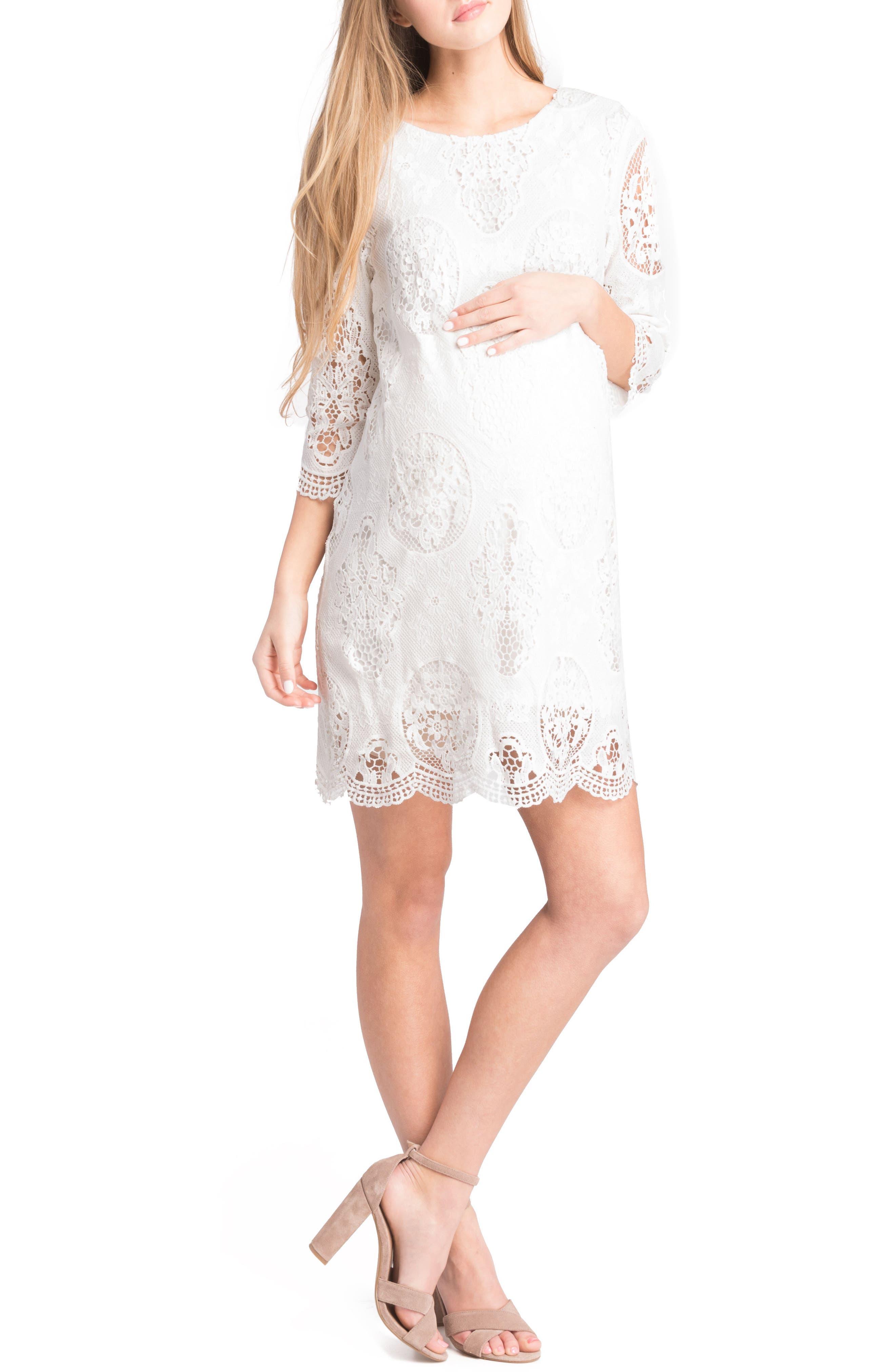Lace Maternity Dress,                             Alternate thumbnail 10, color,