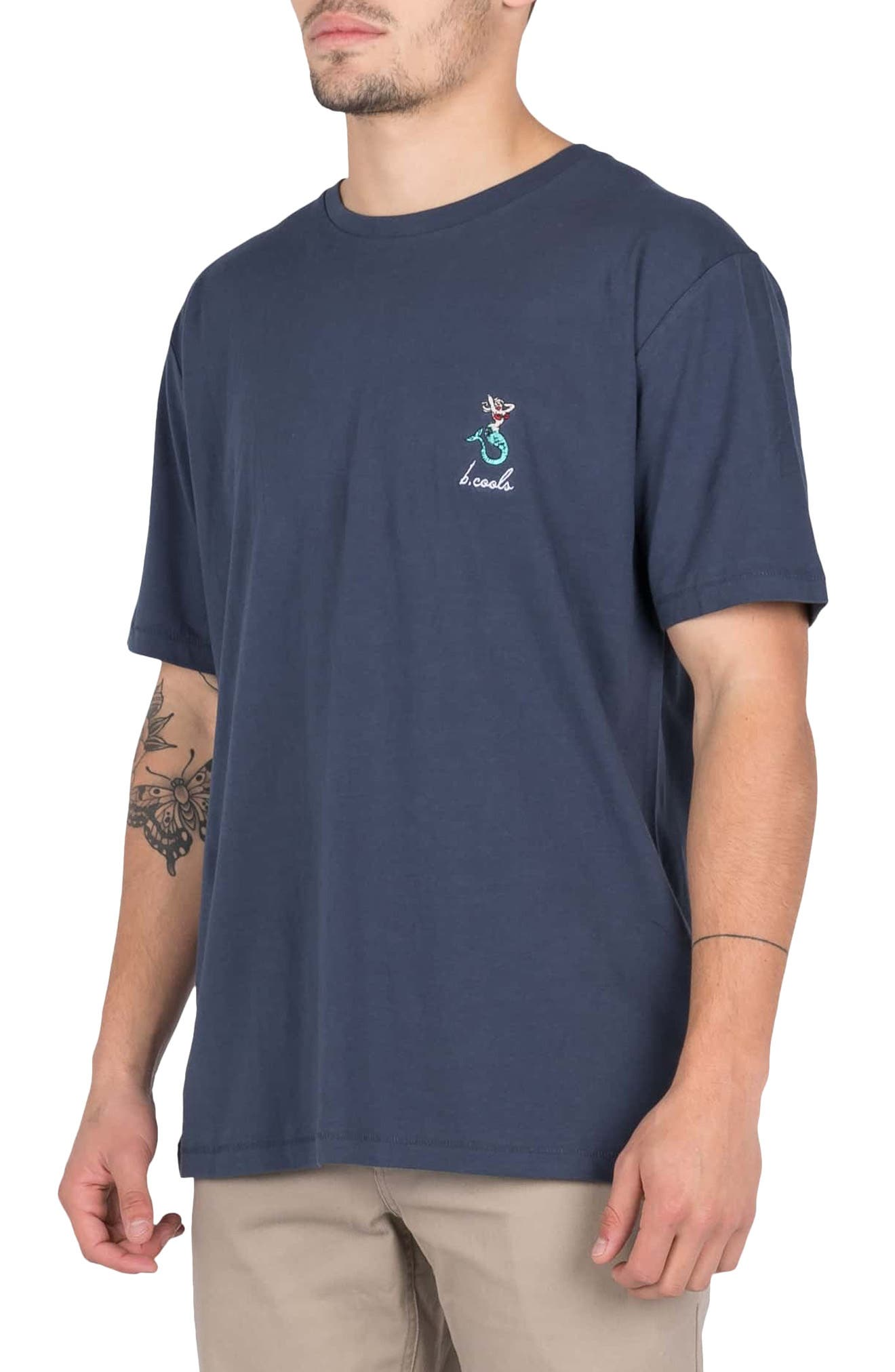 Embroidered Mermaid T-Shirt,                             Alternate thumbnail 3, color,                             020