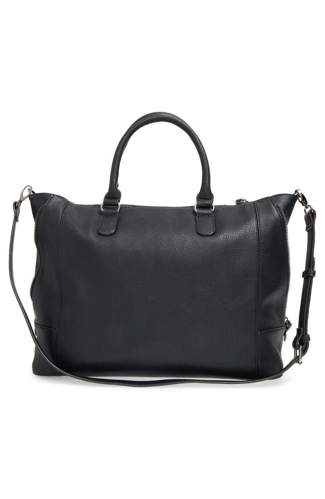 'Susan' Winged Faux Leather Tote,                             Alternate thumbnail 23, color,