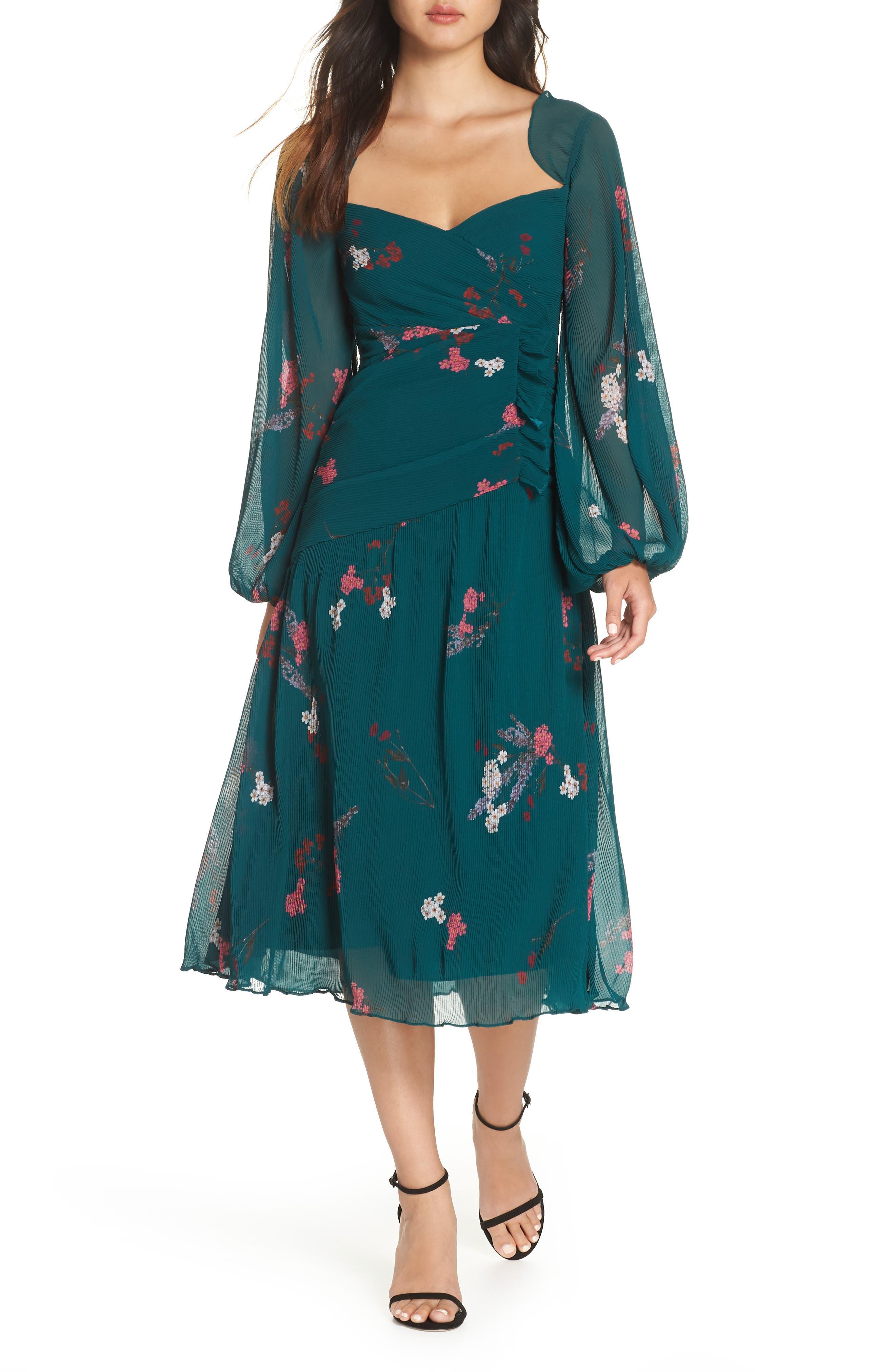 Night Fall Midi Dress, Main, color, 310