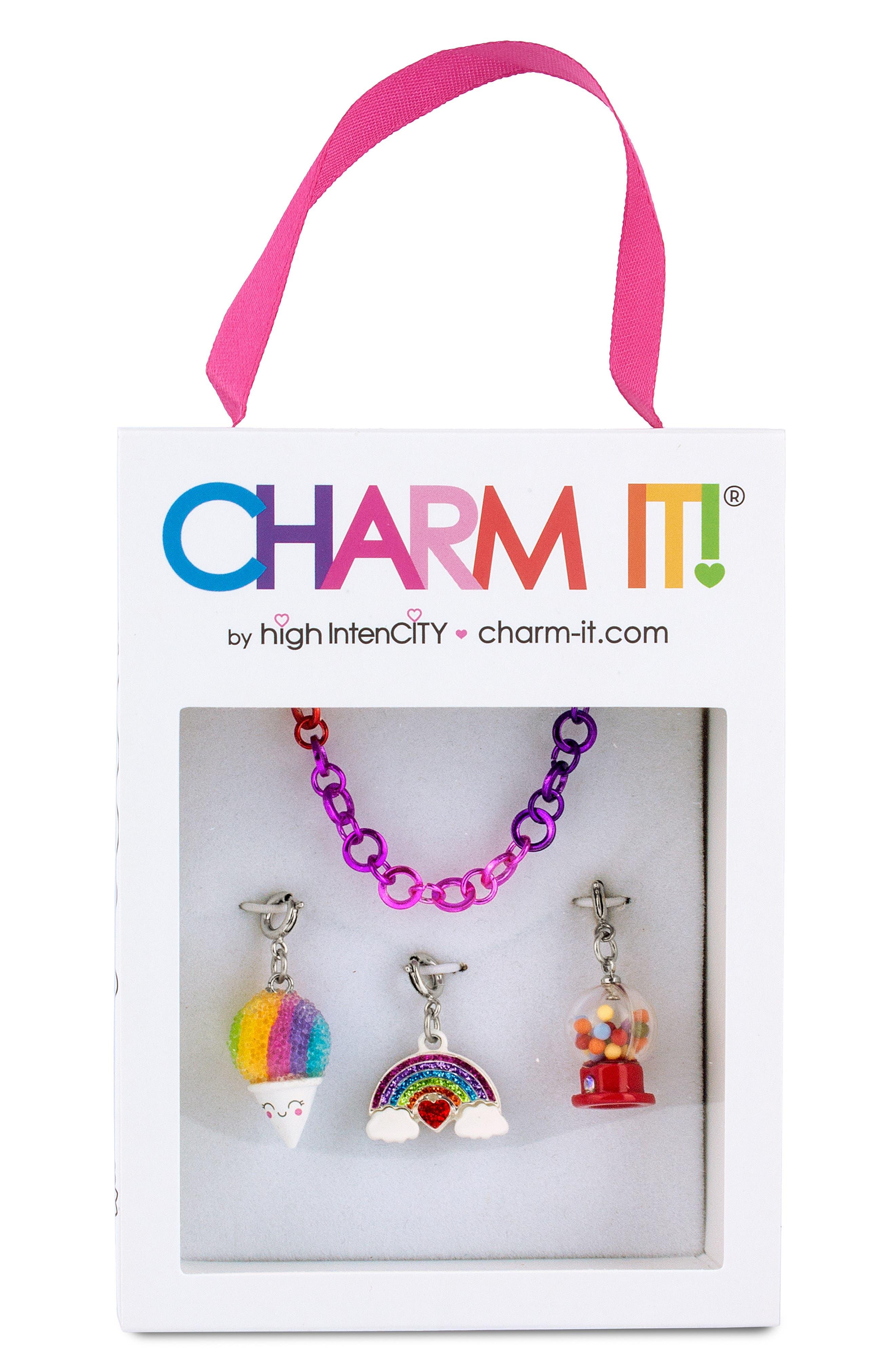 Girls Charm It Rainbow Charm Bracelet Gift Set