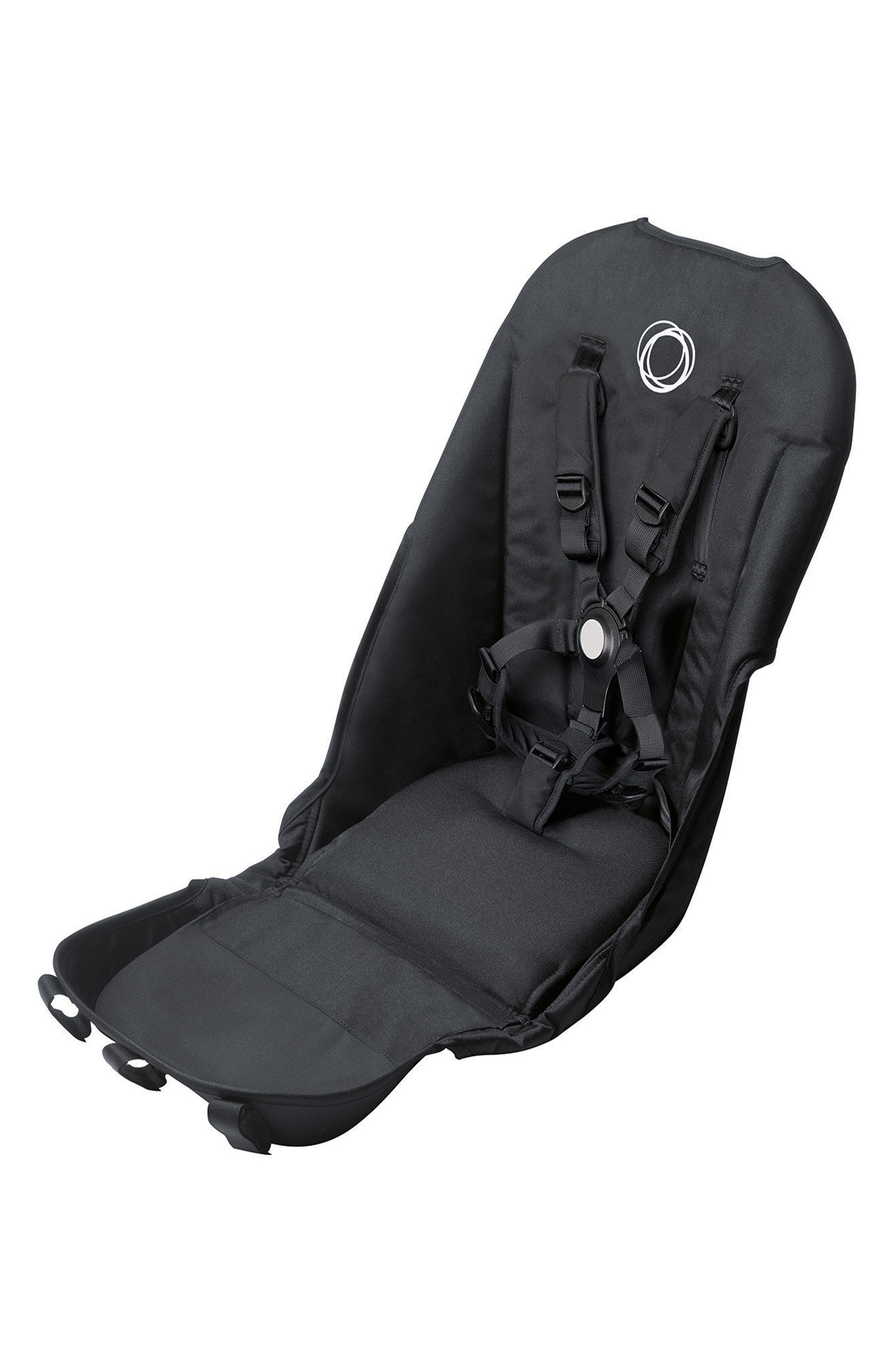 BUGABOO,                             Seat Fabric for Donkey 2 Stroller,                             Main thumbnail 1, color,                             BLACK