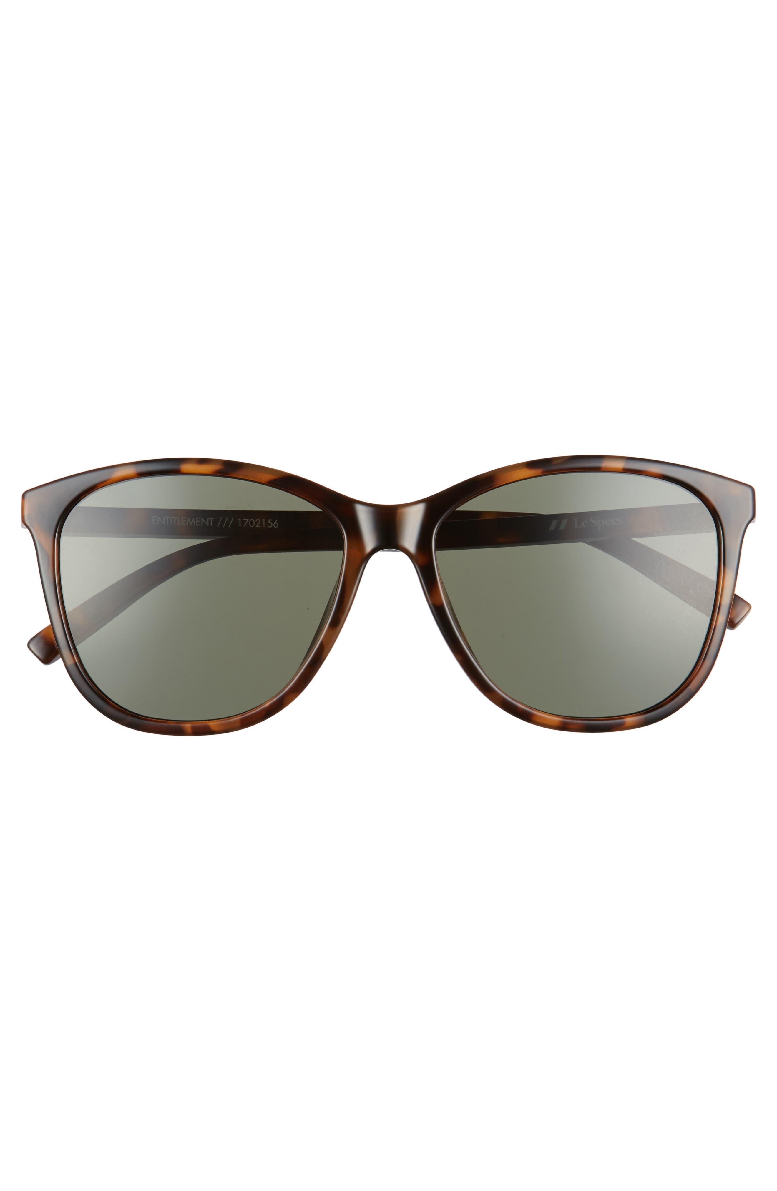 Entitlement 57mm Sunglasses,                             Alternate thumbnail 3, color,                             MILKY TORT