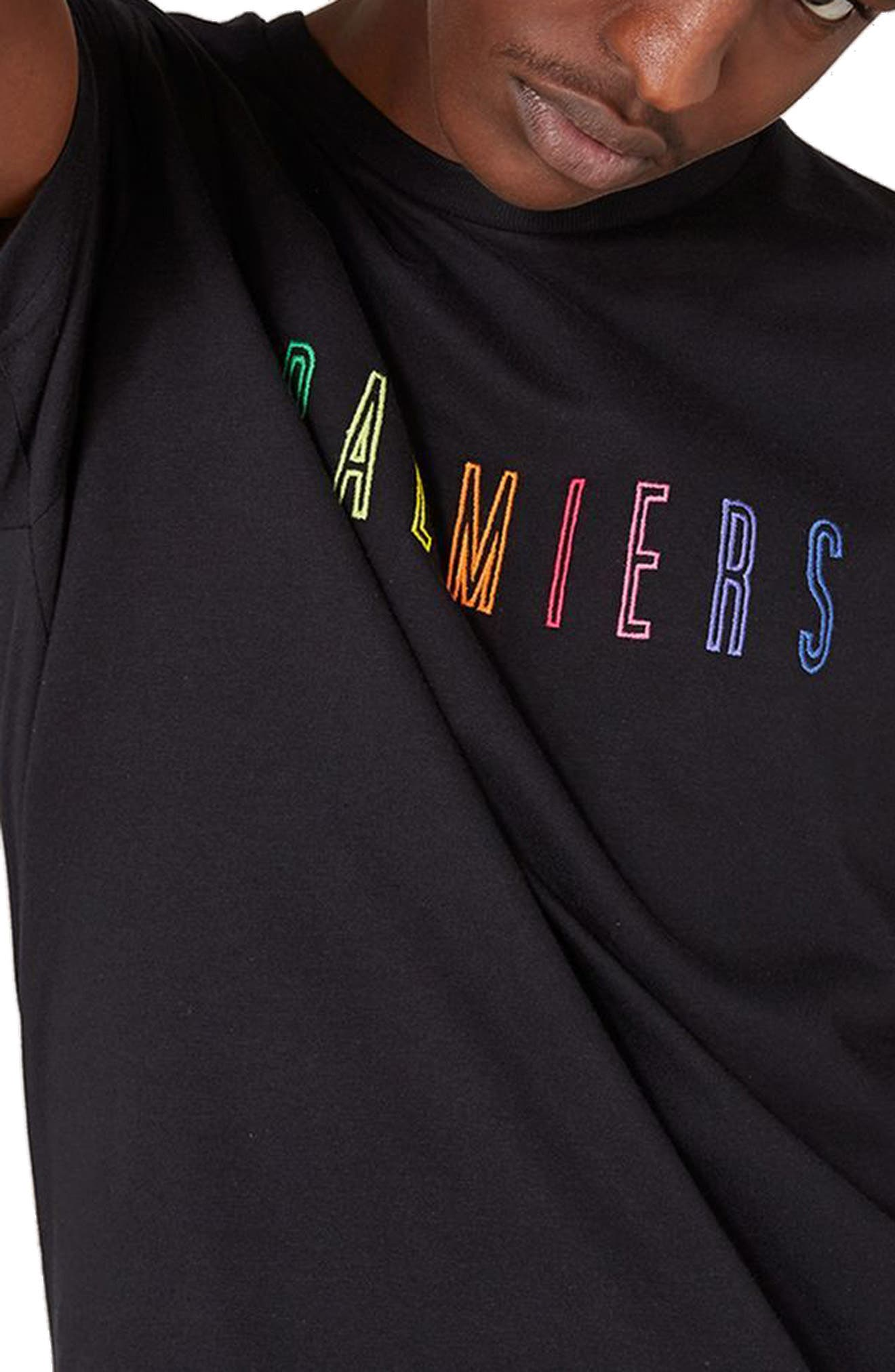 Palmiers Embroidered T-Shirt,                             Alternate thumbnail 3, color,