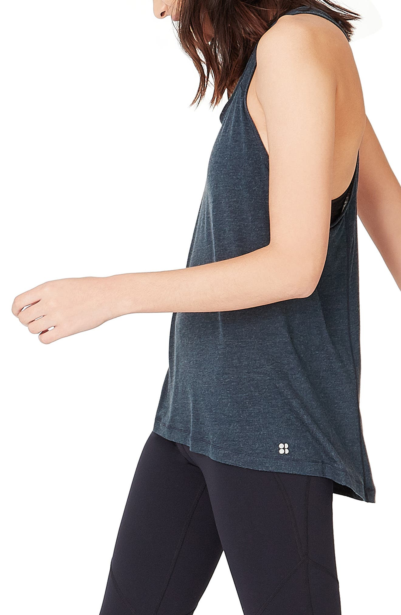 Compound Jersey Tank,                             Alternate thumbnail 3, color,                             BEETLE BLUE MARL