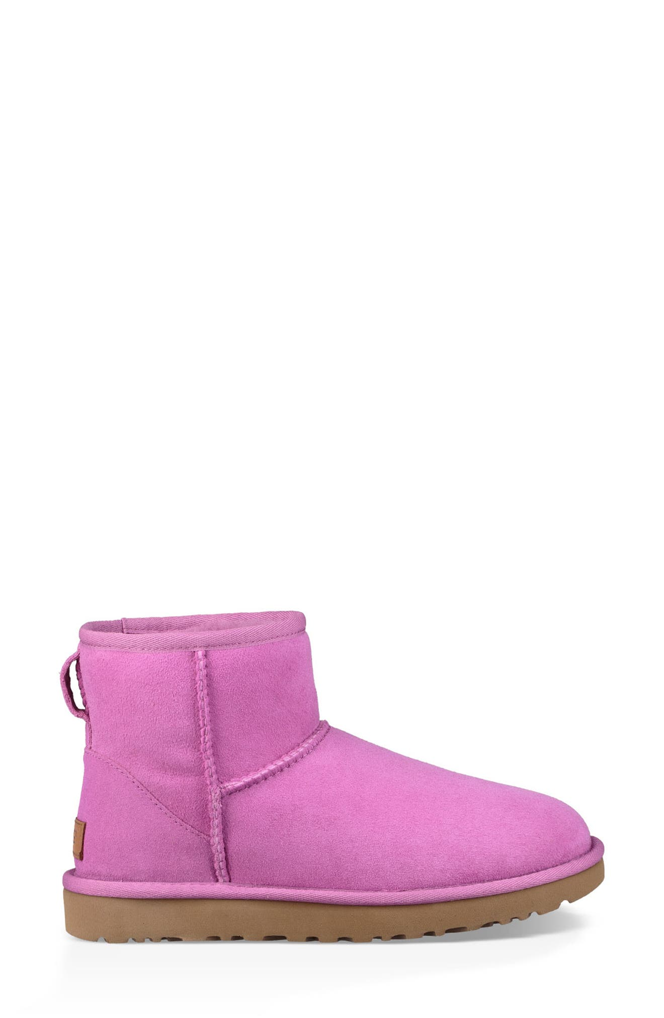 'Classic Mini II' Genuine Shearling Lined Boot,                             Alternate thumbnail 3, color,                             BODACIOUS SUEDE