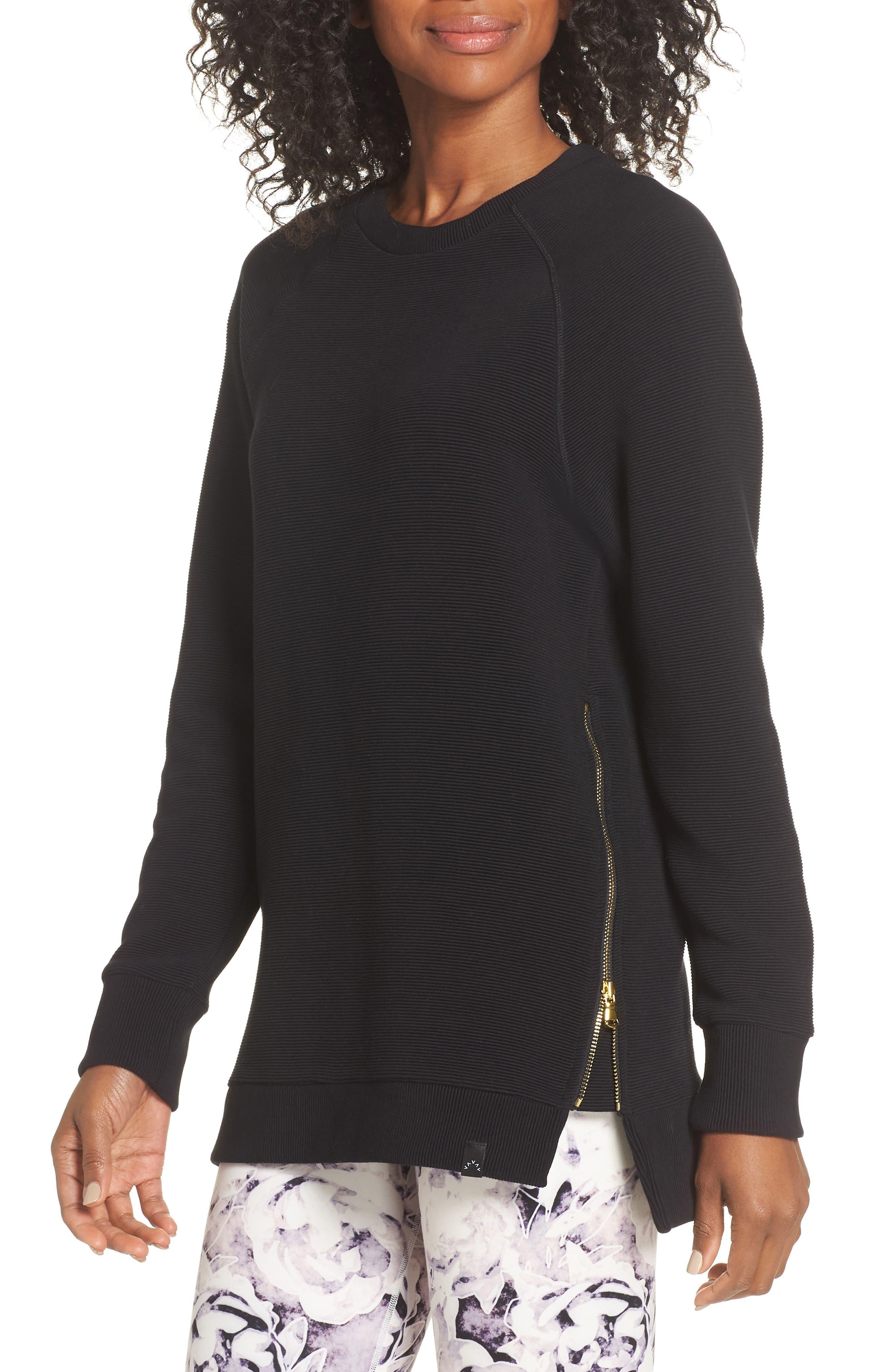 Manning Sweatshirt,                         Main,                         color, BLACK RIB