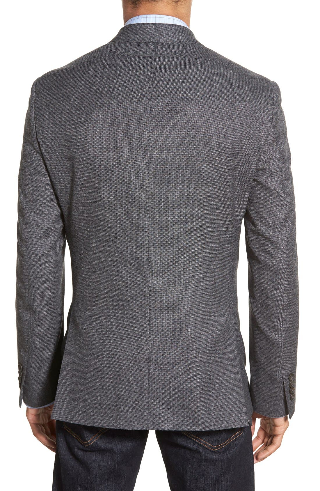 Classic Fit Hopsack Wool Blazer,                             Alternate thumbnail 2, color,                             020
