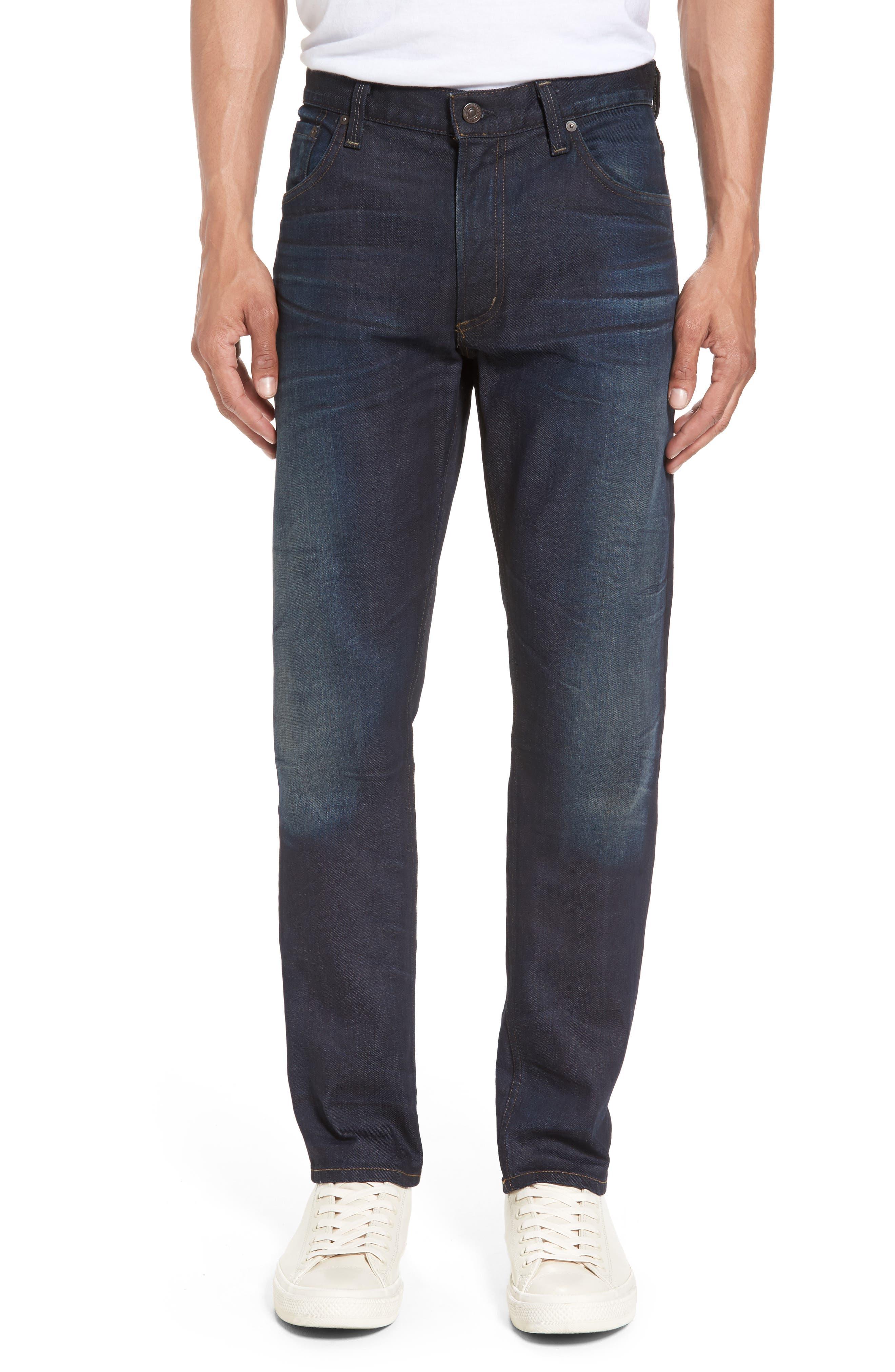 Bowery Slim Fit Jeans,                             Main thumbnail 1, color,                             HURON