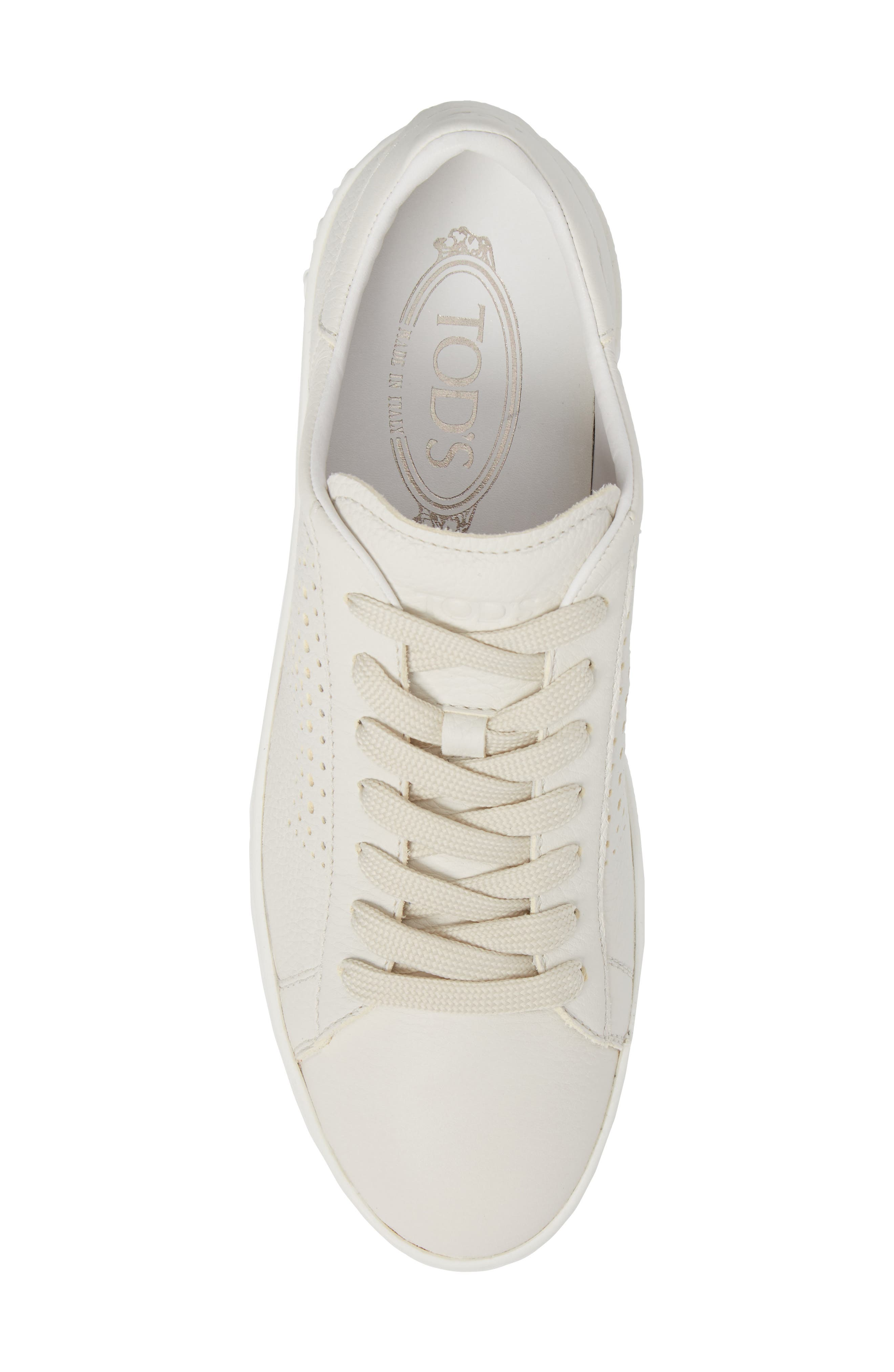 Tods Perforated T Sneaker,                             Alternate thumbnail 5, color,                             100