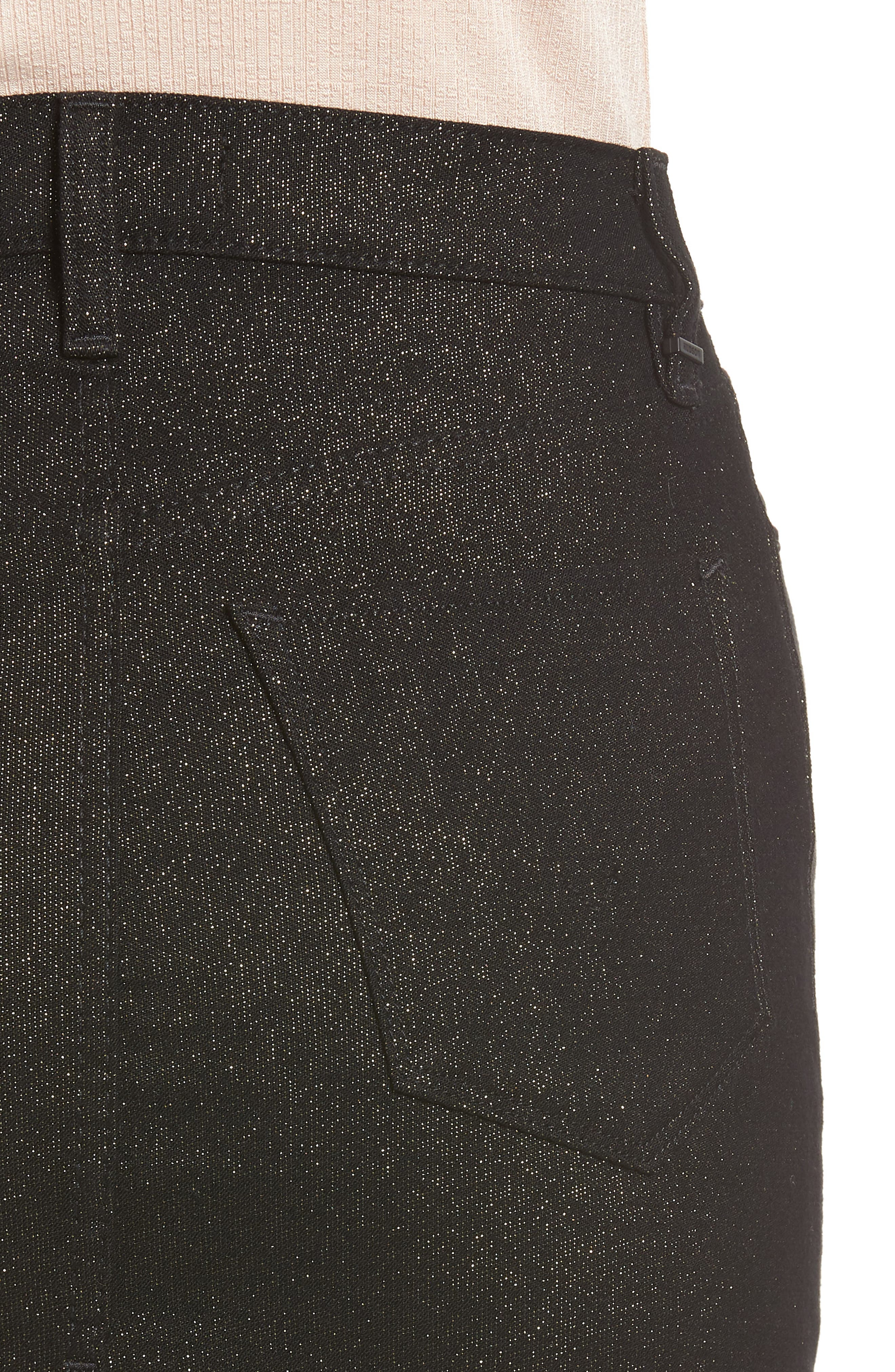 Lulu Sparkle Miniskirt,                             Alternate thumbnail 4, color,                             GOLD STELLAR