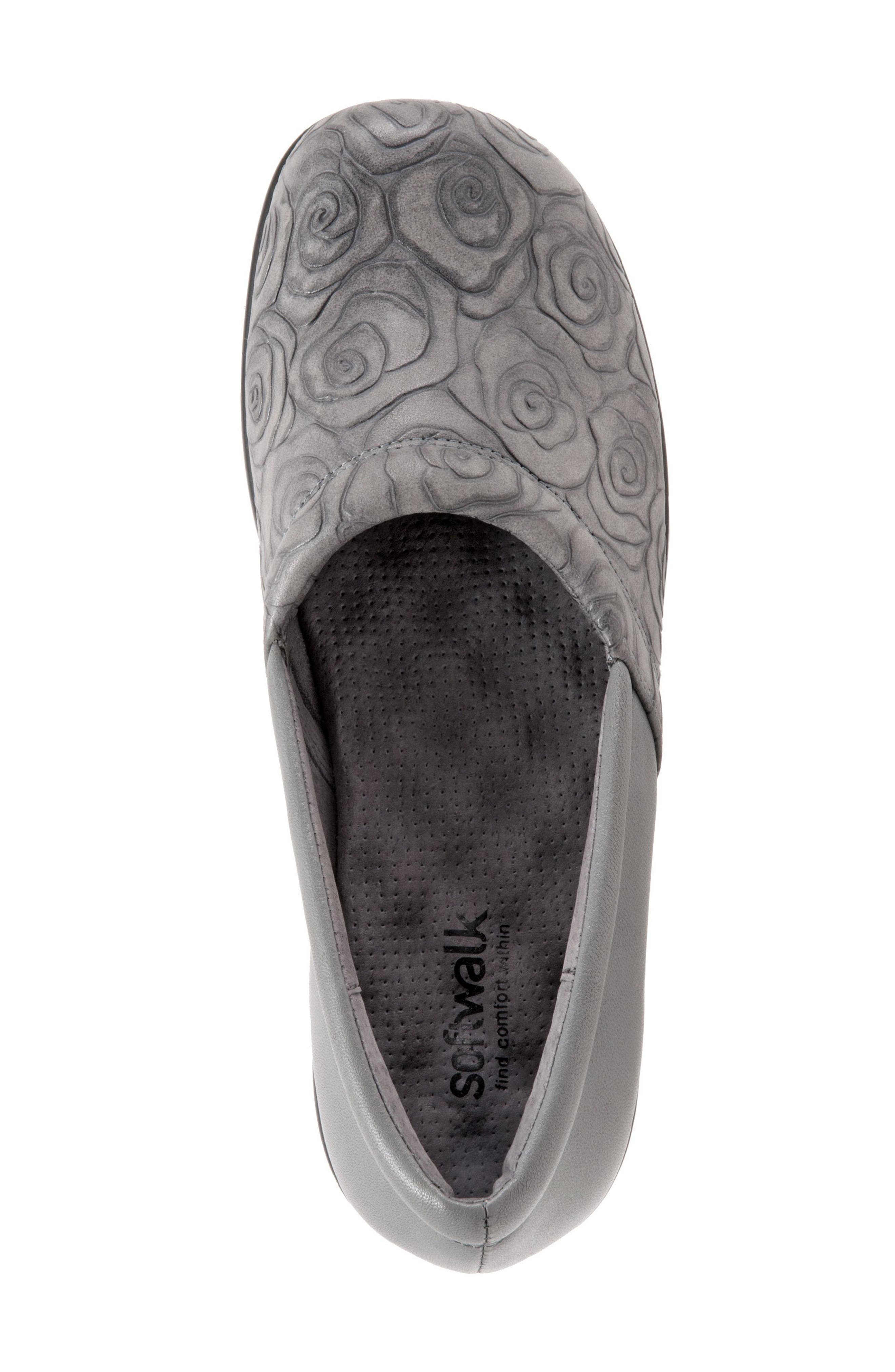 'Adora' Slip-On,                             Alternate thumbnail 5, color,                             GREY ROSE LEATHER