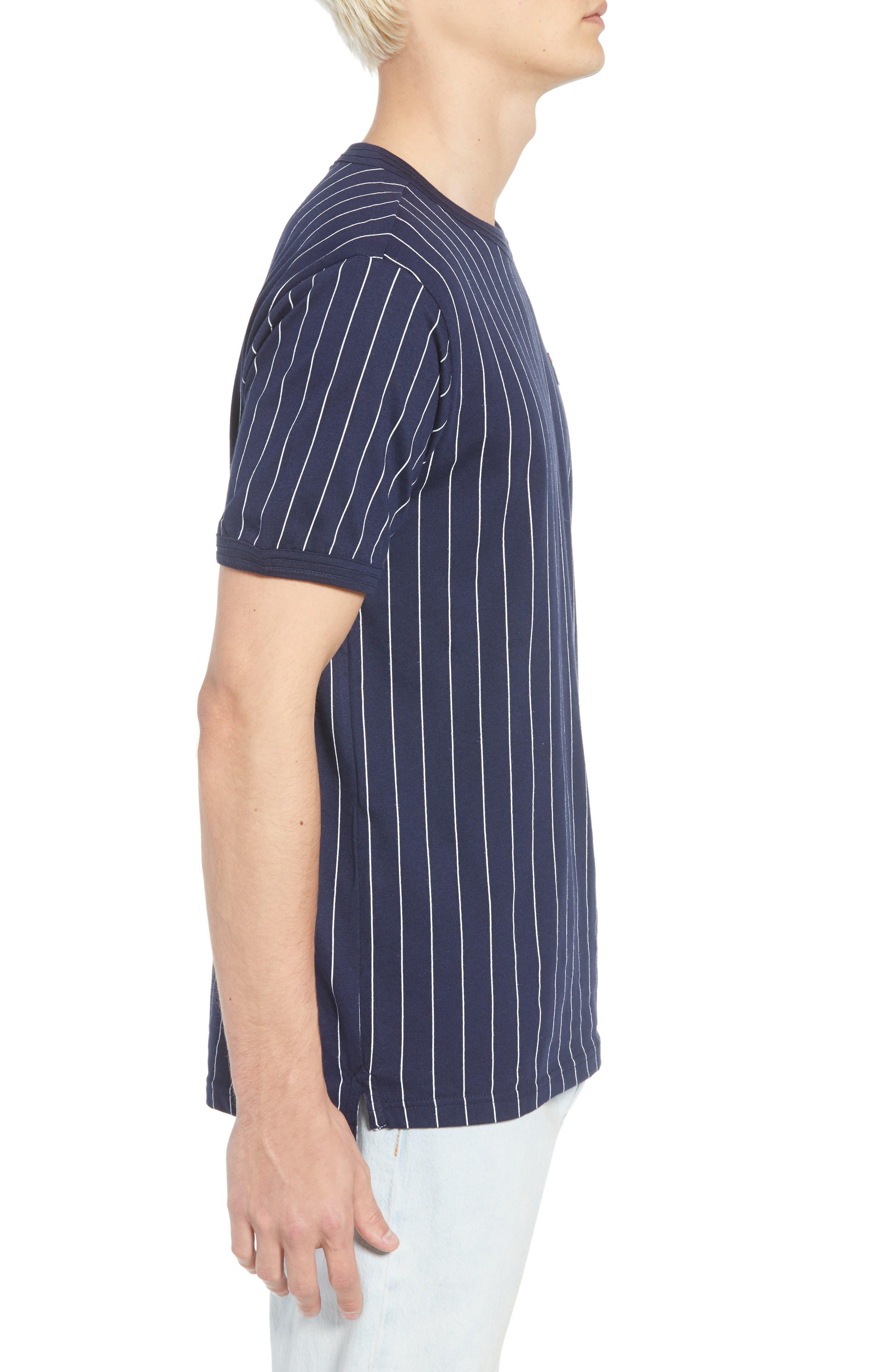 Guilo T-Shirt,                             Alternate thumbnail 3, color,                             PEACOAT/ WHITE