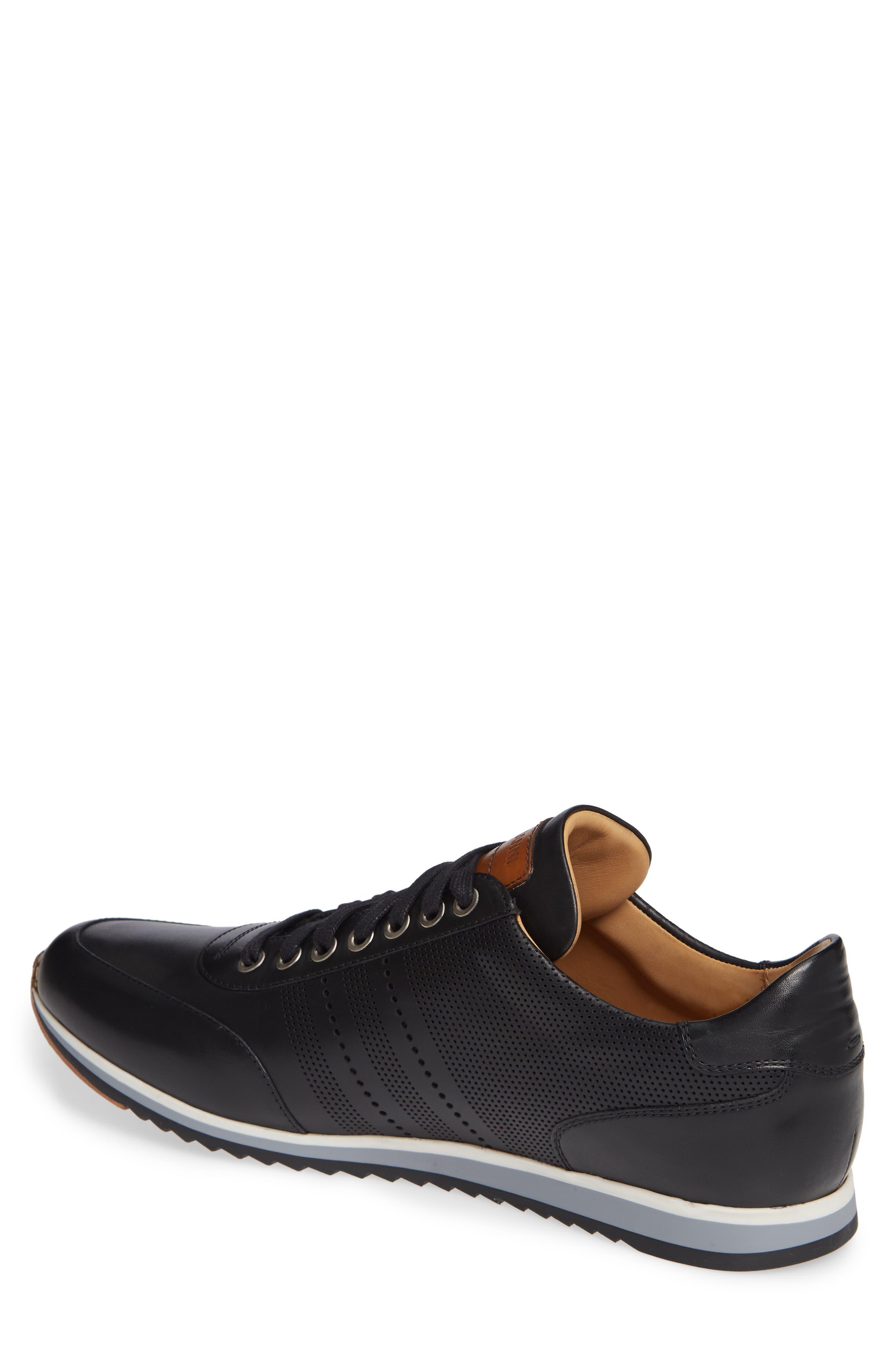 Merino Sneaker,                             Alternate thumbnail 2, color,                             BLACK LEATHER