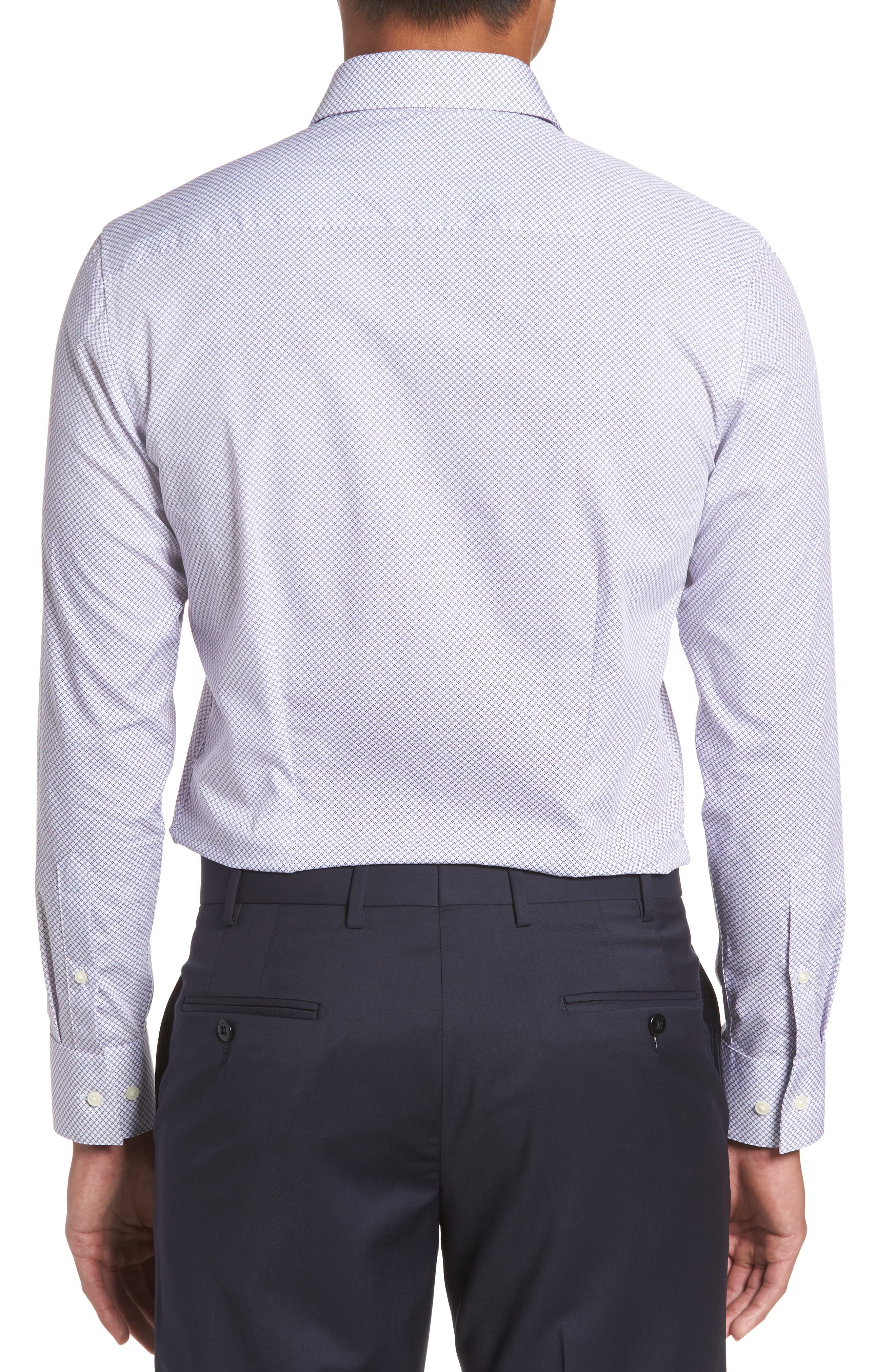 Endurance Sterling Trim Fit Dress Shirt,                             Alternate thumbnail 4, color,
