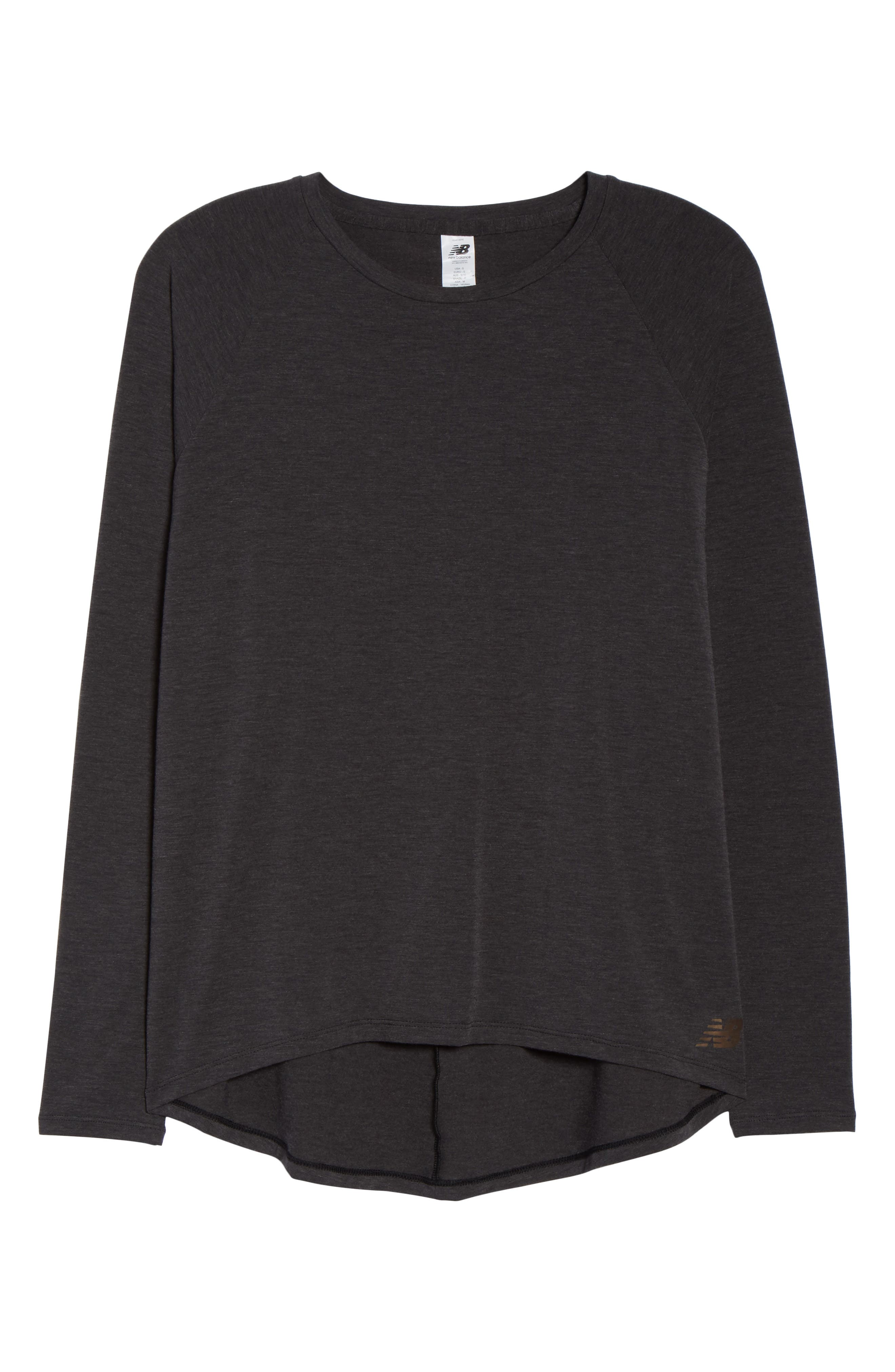 NEW BALANCE,                             Release Open Back Long Sleeve Sweatshirt,                             Alternate thumbnail 7, color,                             008