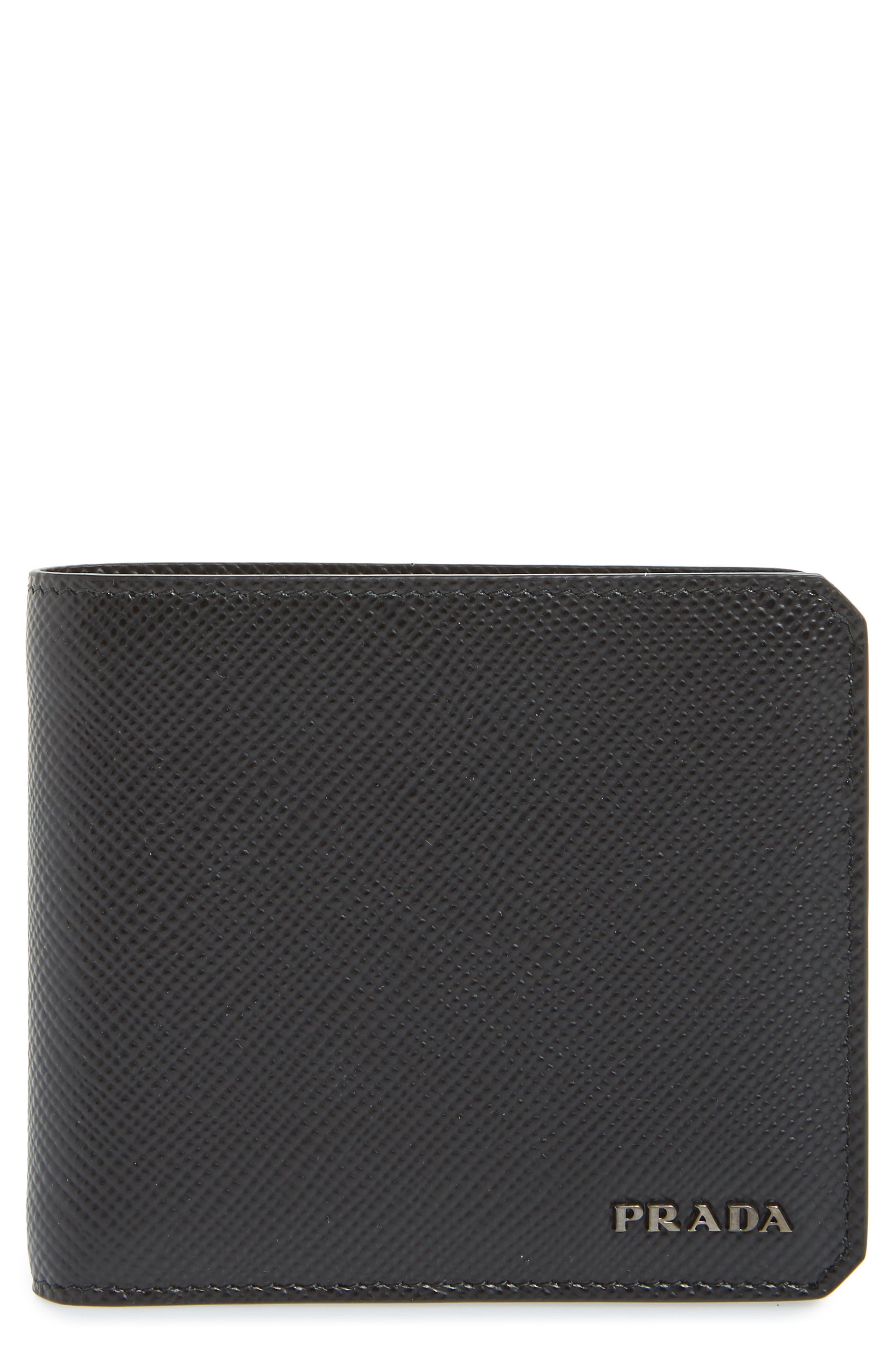 Saffiano Leather Wallet,                             Main thumbnail 1, color,                             001