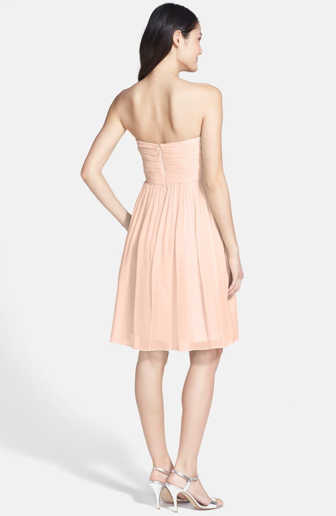 'Morgan' Strapless Silk Chiffon Dress,                             Alternate thumbnail 73, color,