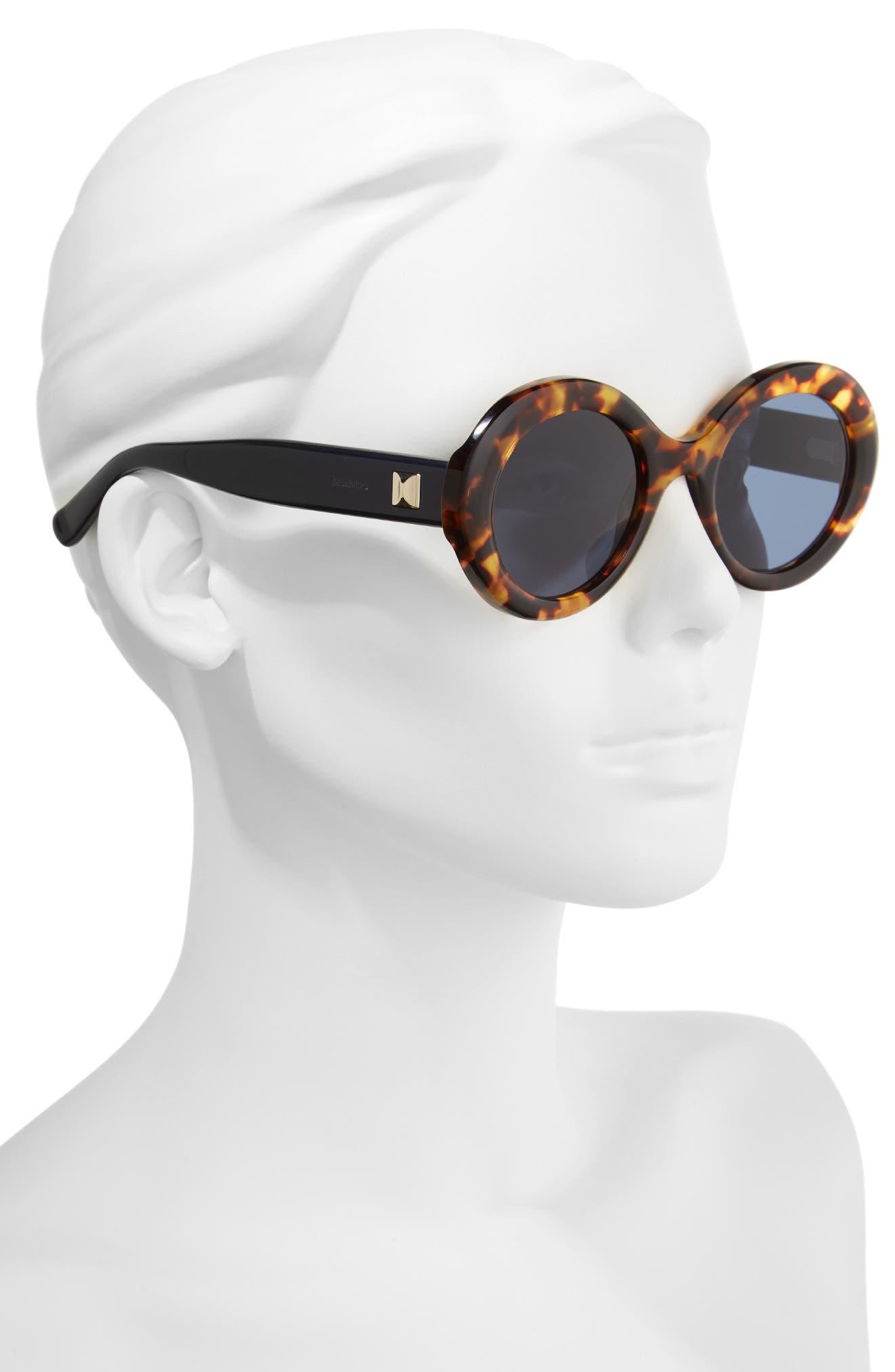 Prism VIII 51mm Oval Sunglasses,                             Alternate thumbnail 2, color,                             HAVANA BLUE