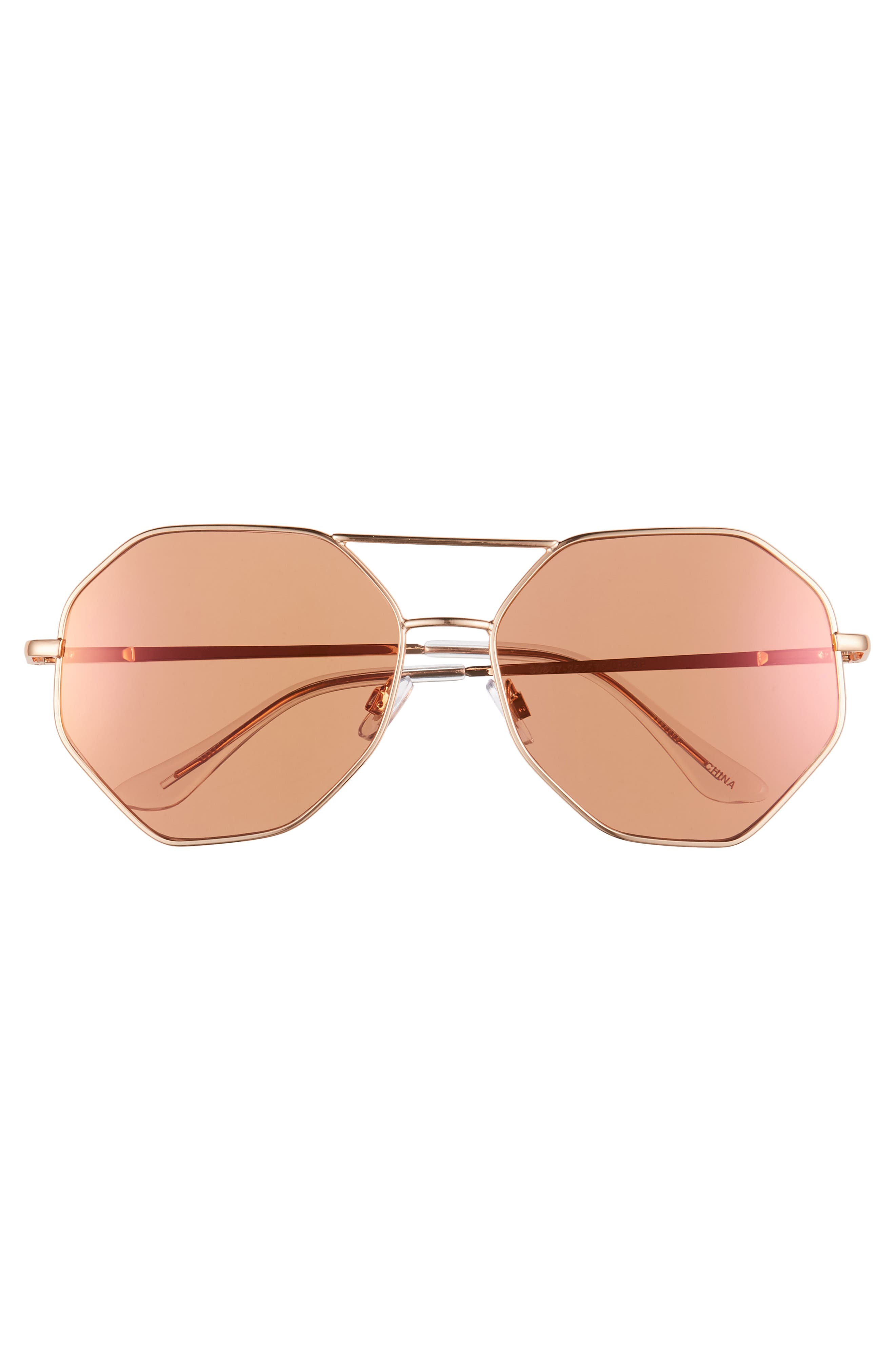 Hexcon Aviator Sunglasses,                             Alternate thumbnail 3, color,                             710