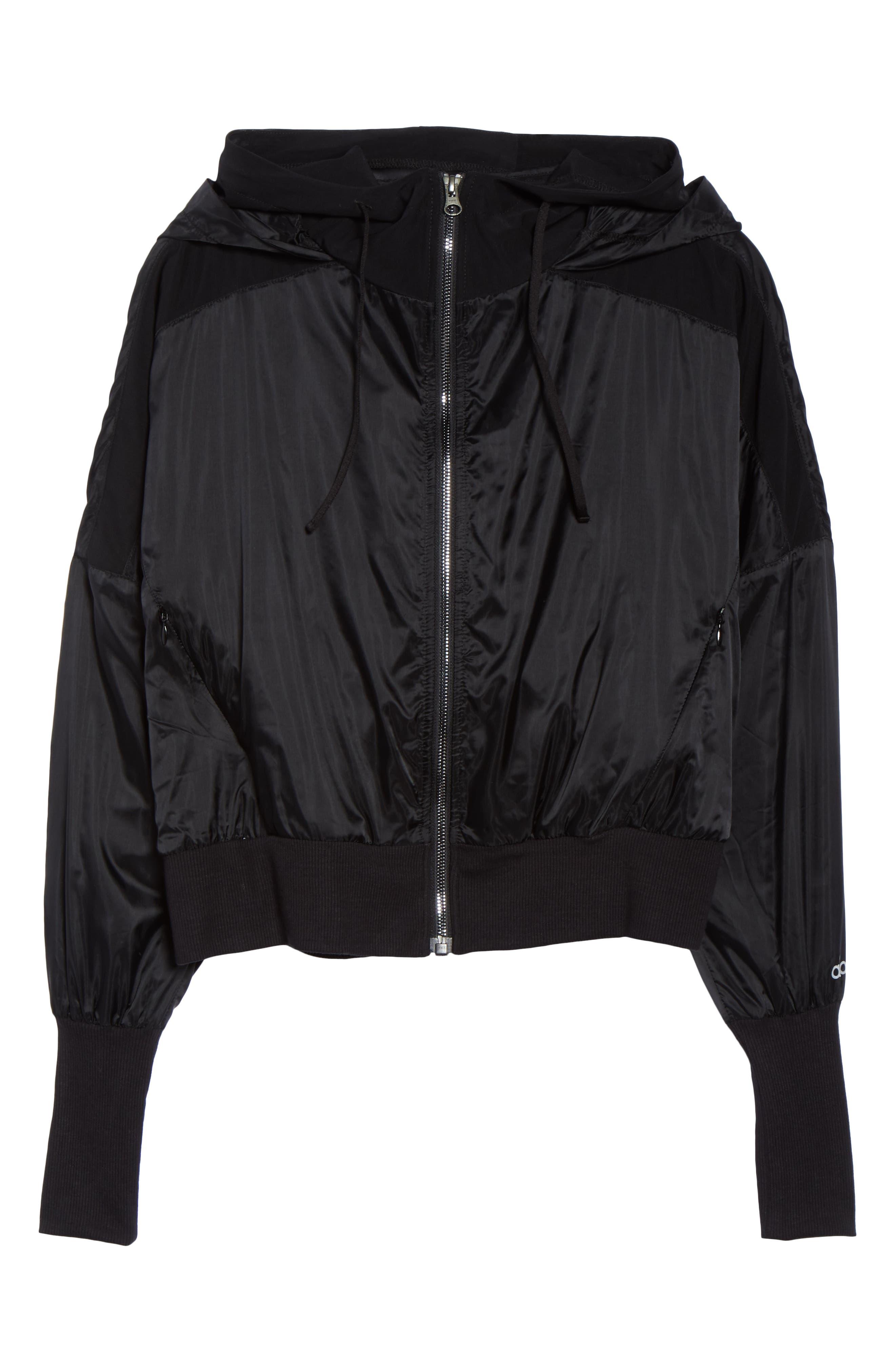 Aqua Jacket,                             Alternate thumbnail 6, color,                             BLACK