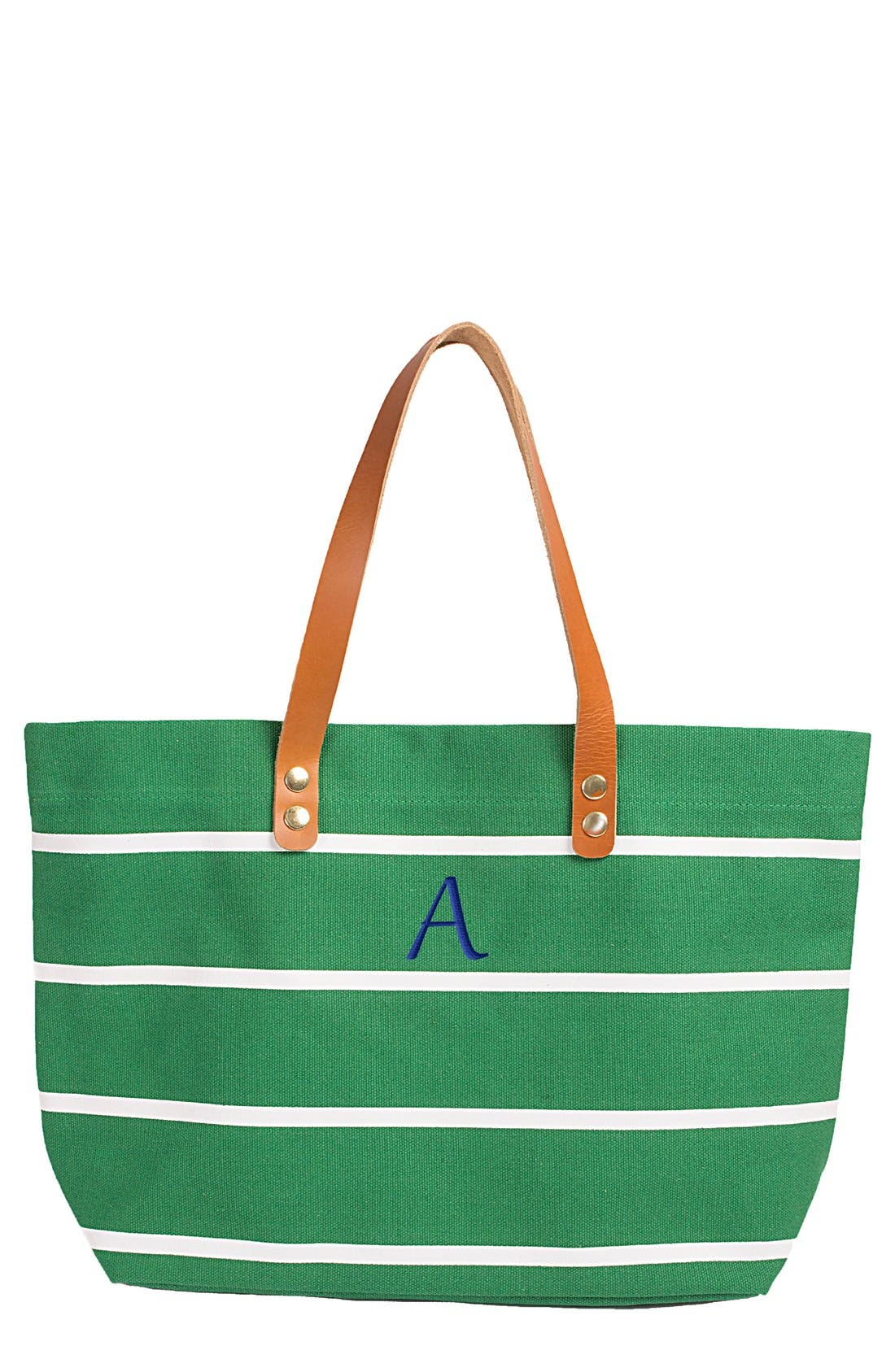 Monogram Stripe Tote,                             Main thumbnail 56, color,