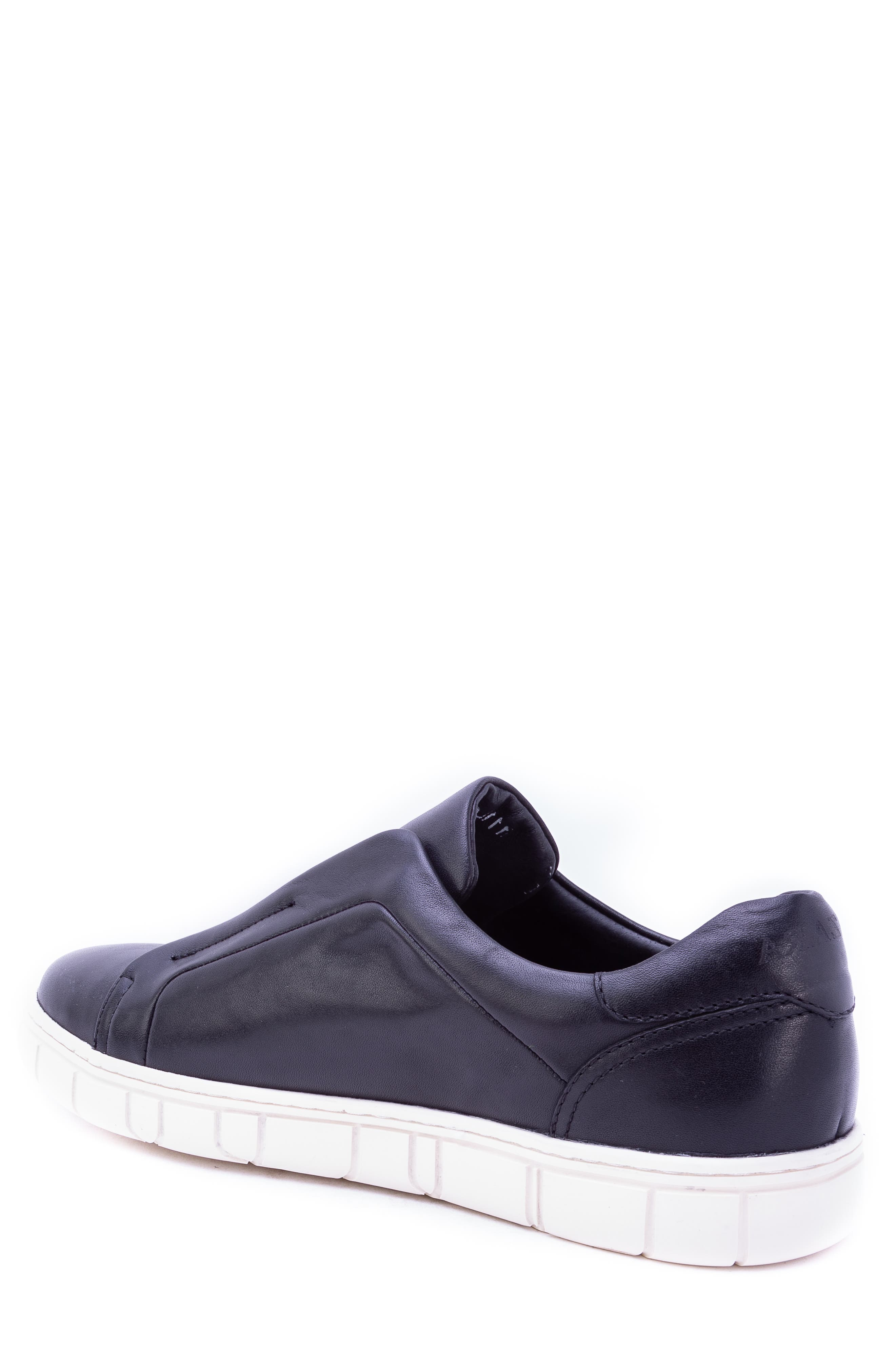 Sorgh Laceless Sneaker,                             Alternate thumbnail 2, color,                             BLACK LEATHER