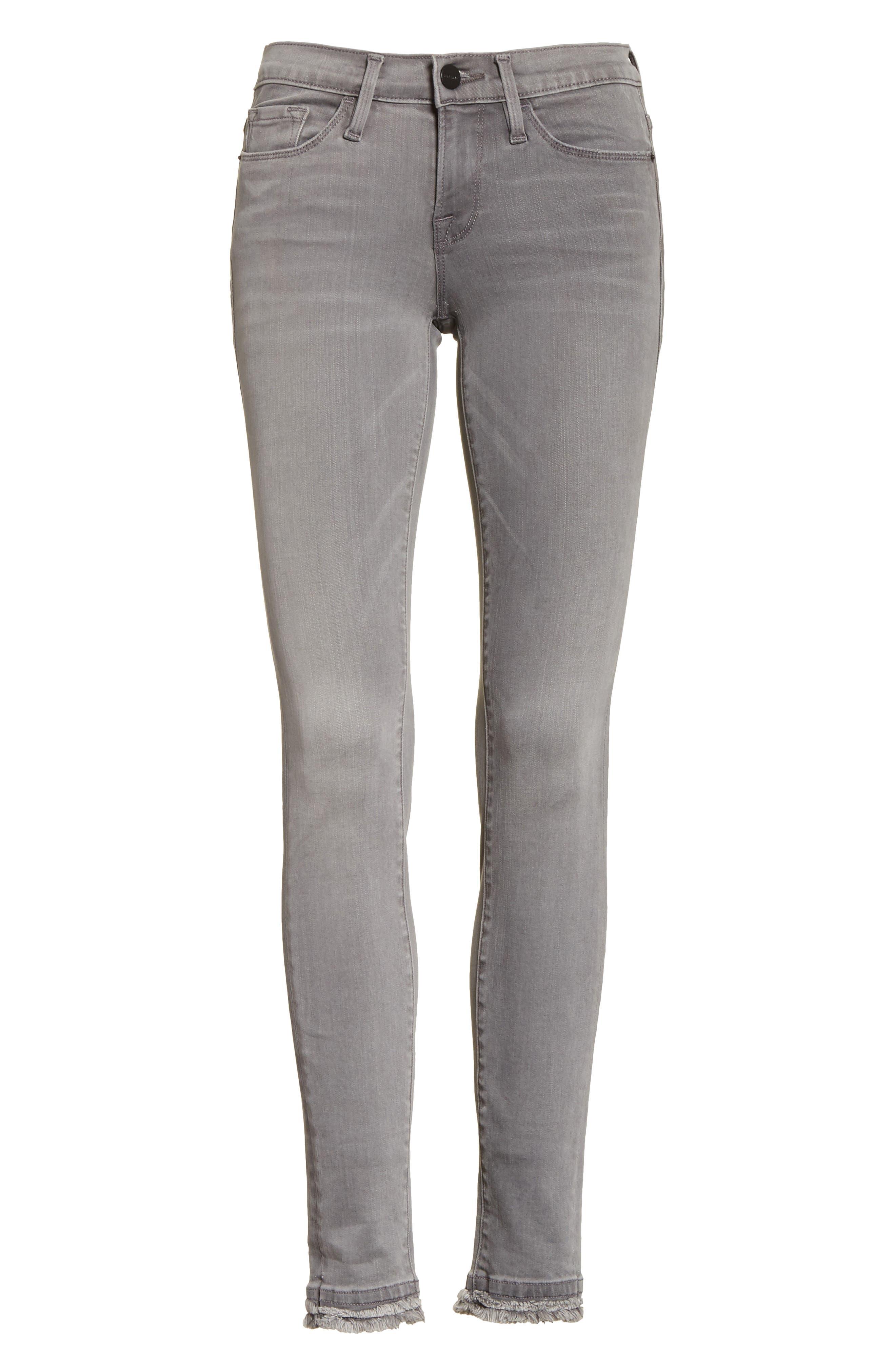 Le Skinny De Jeanne Double Hem Skinny Jeans,                             Alternate thumbnail 6, color,