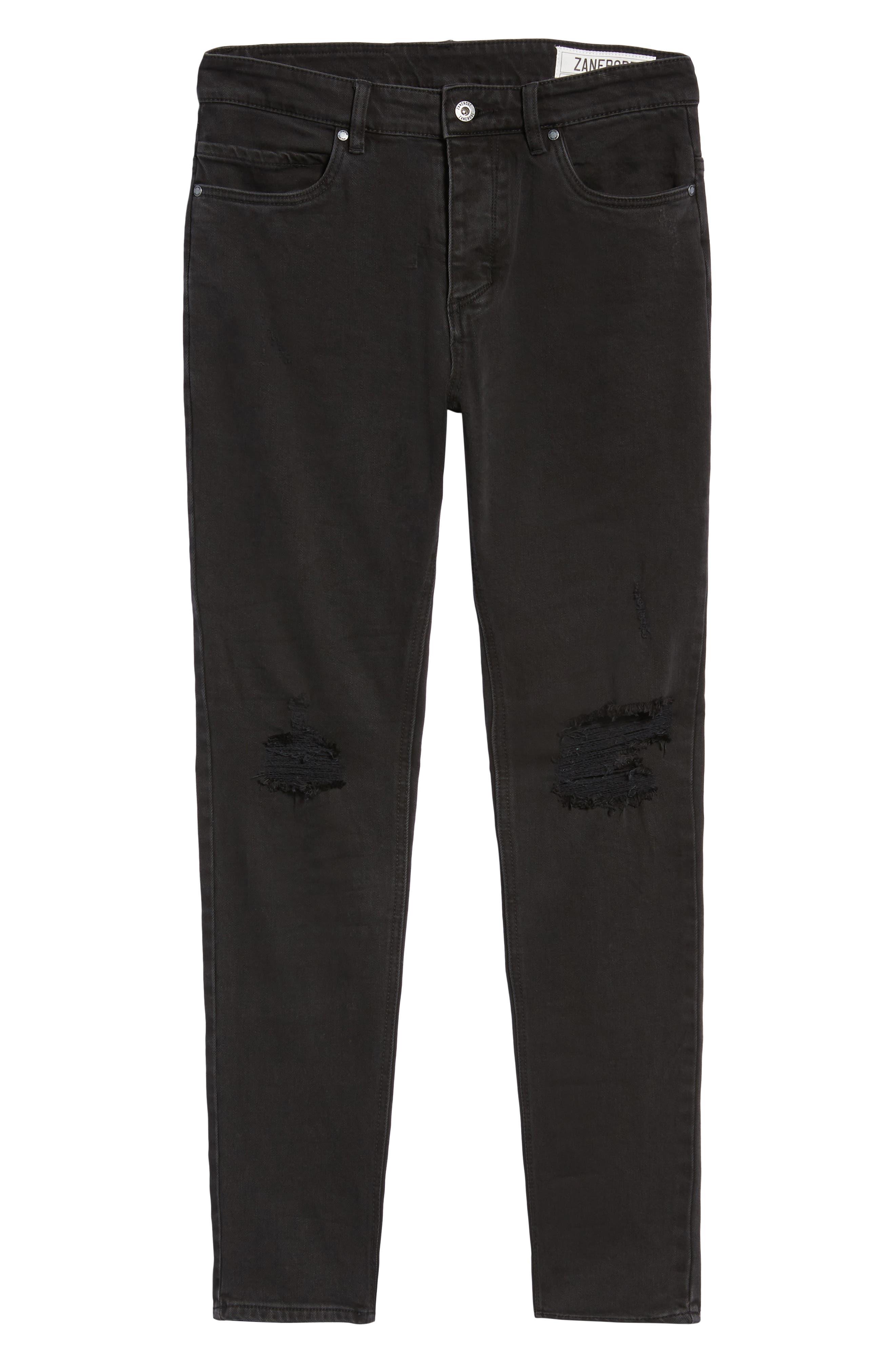 Joe Blow Slim Fit Jeans,                             Alternate thumbnail 6, color,                             BUSTED BLACK
