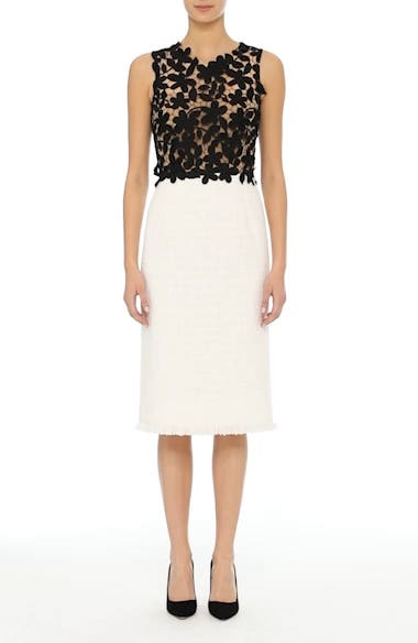 Lace Bodice Sheath Dress, video thumbnail