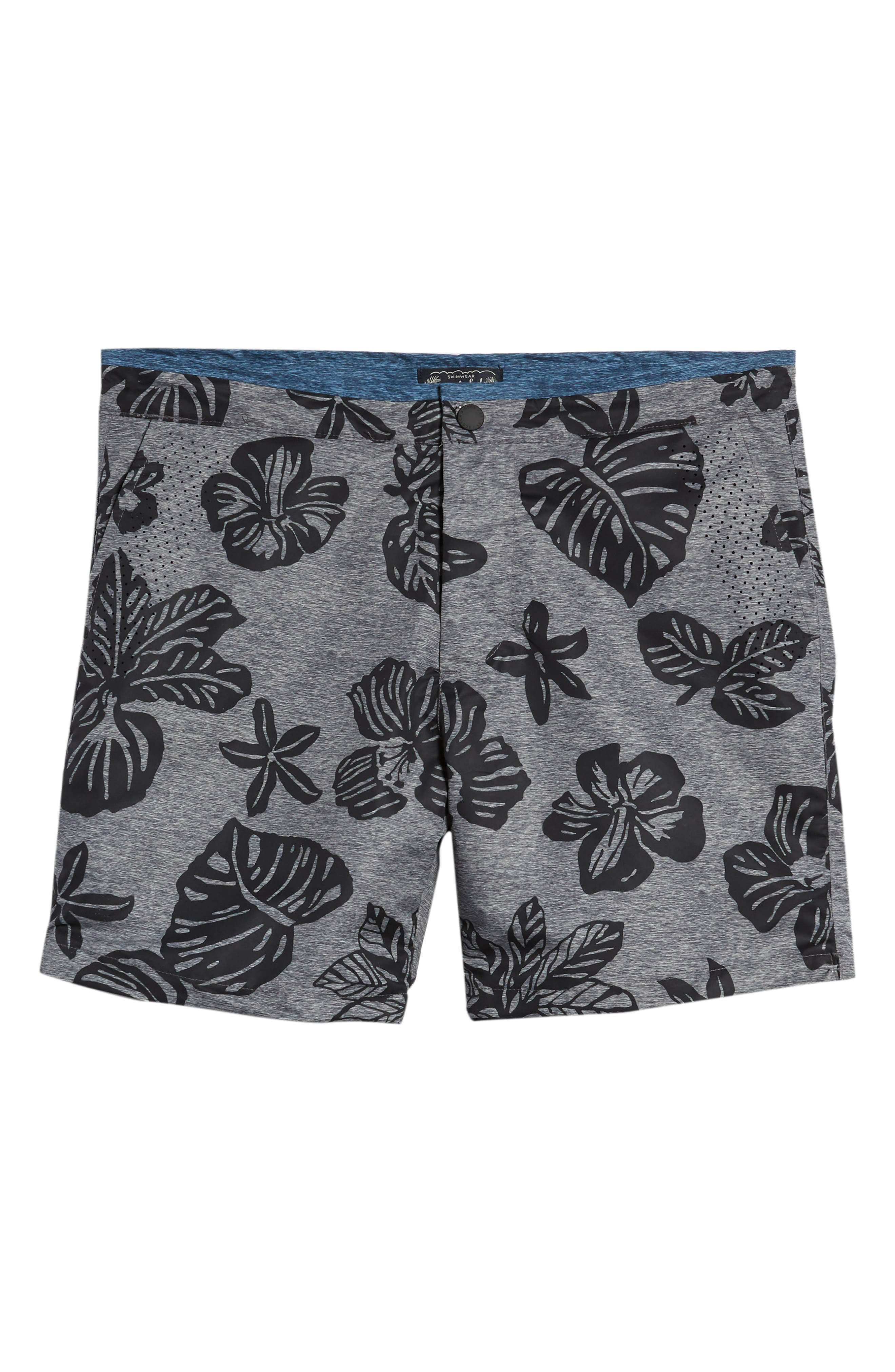 Print Mélange Board Shorts,                             Alternate thumbnail 15, color,