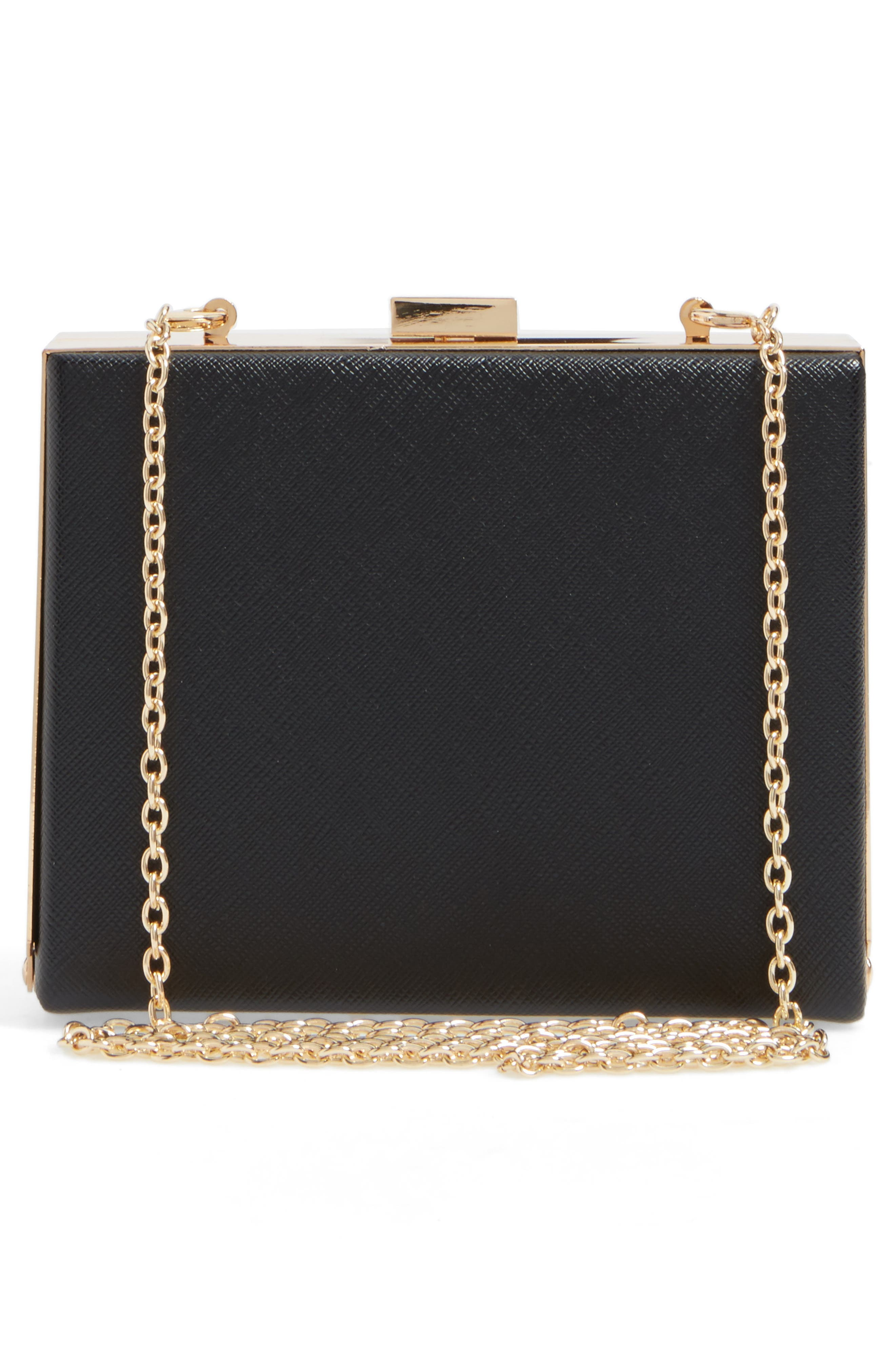 Crystal Box Clutch,                             Alternate thumbnail 3, color,                             001