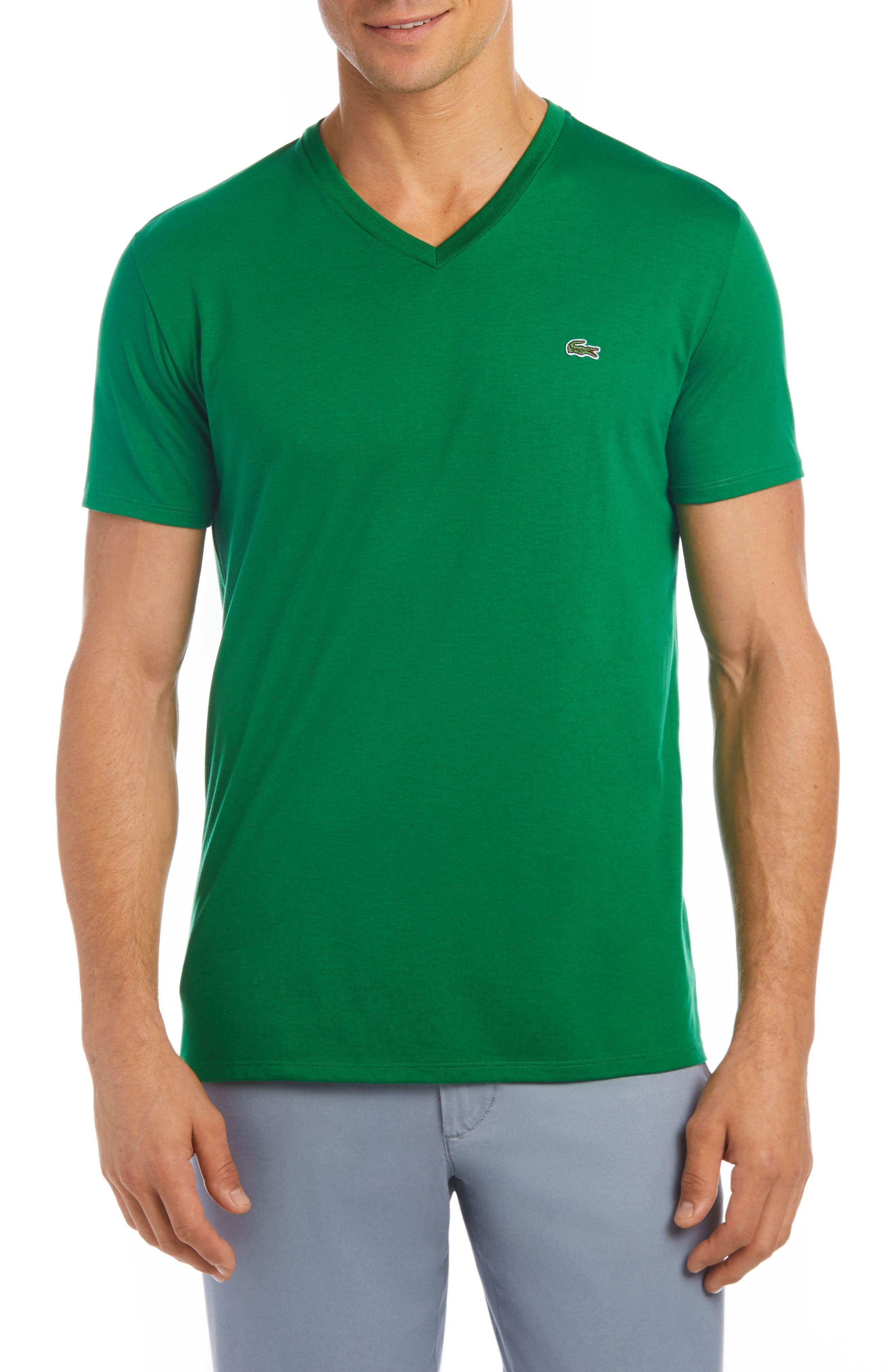V-Neck Cotton T-Shirt,                             Main thumbnail 2, color,
